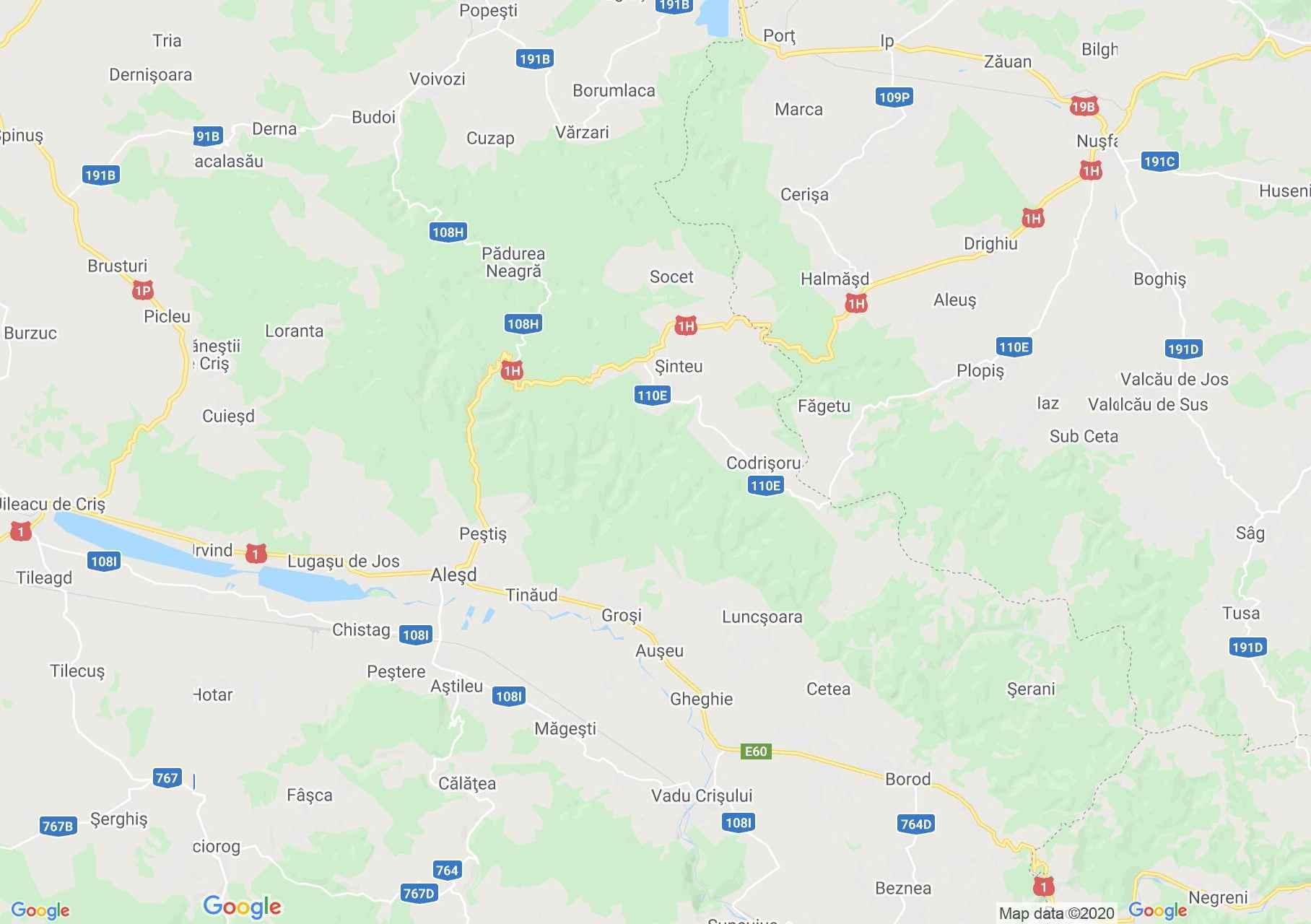Apuseni: Muntele Şes, Harta turistică interactivă