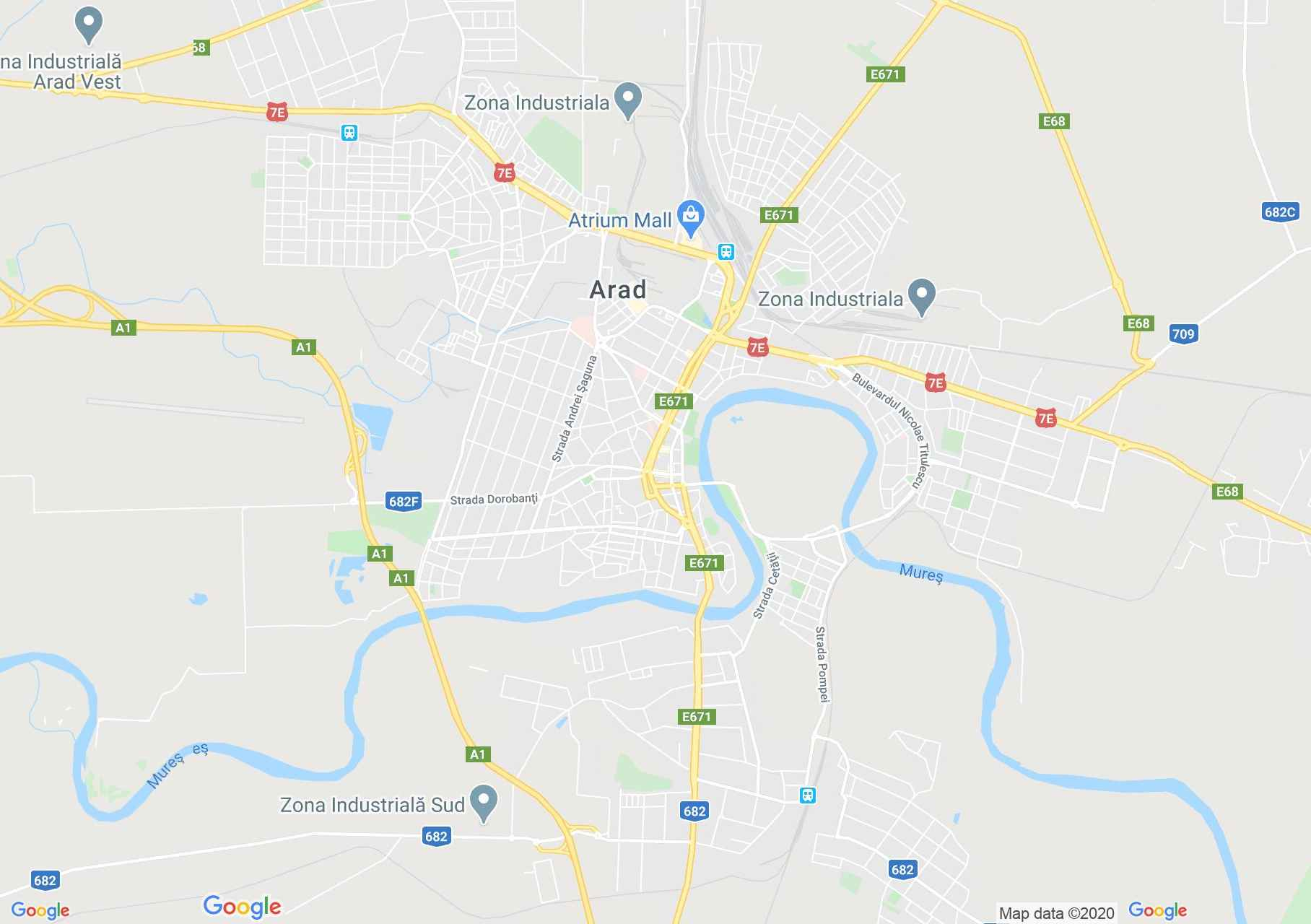 Arad, Interactive tourist map