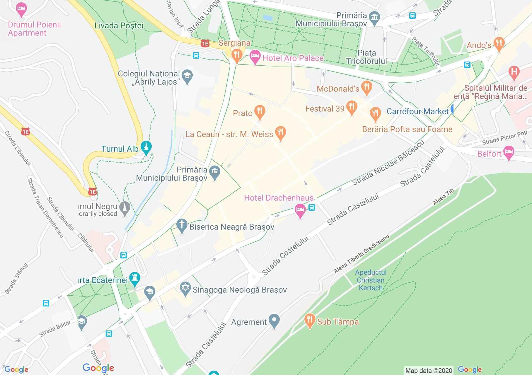 Centrul oraşului Braşov, Harta turistică interactivă