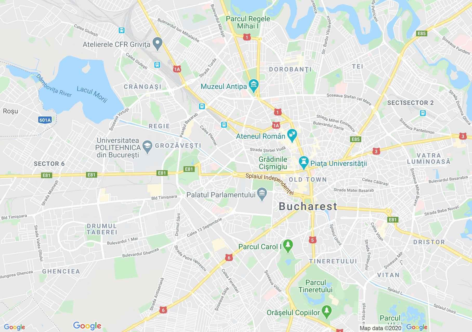 Bucuresti Harta Turistică Interactivă