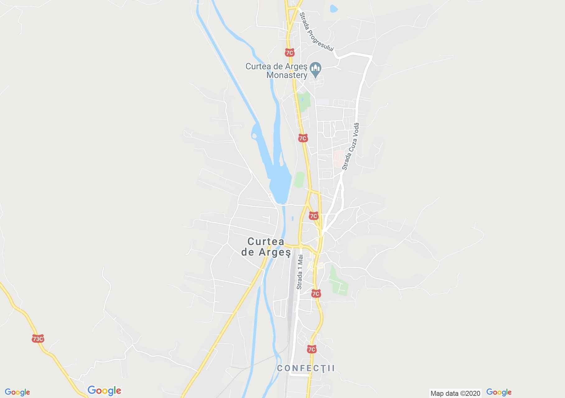 Curtea de Argeş, Interactive tourist map