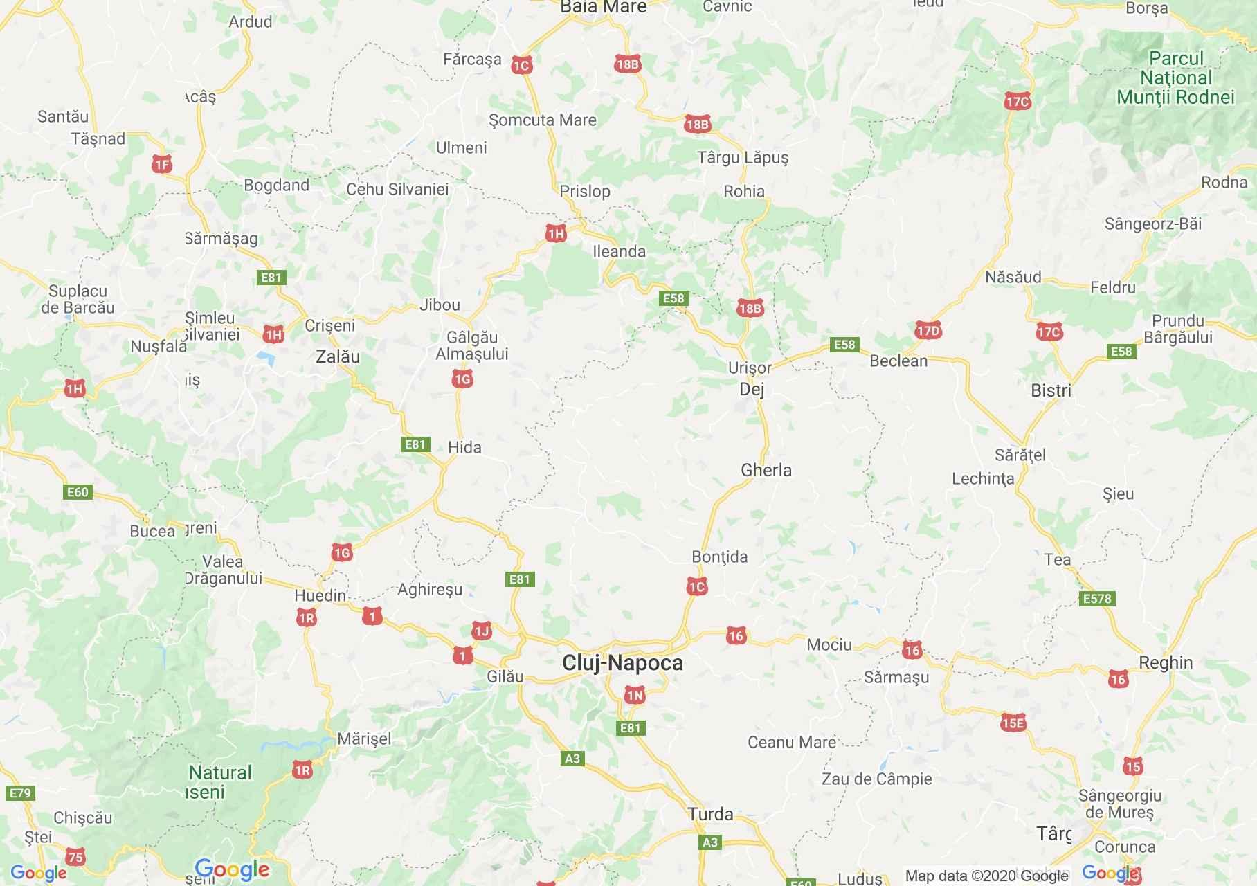 Dn1c E58 E576 Răstoci Dej Cluj Harta Turistică Interactivă
