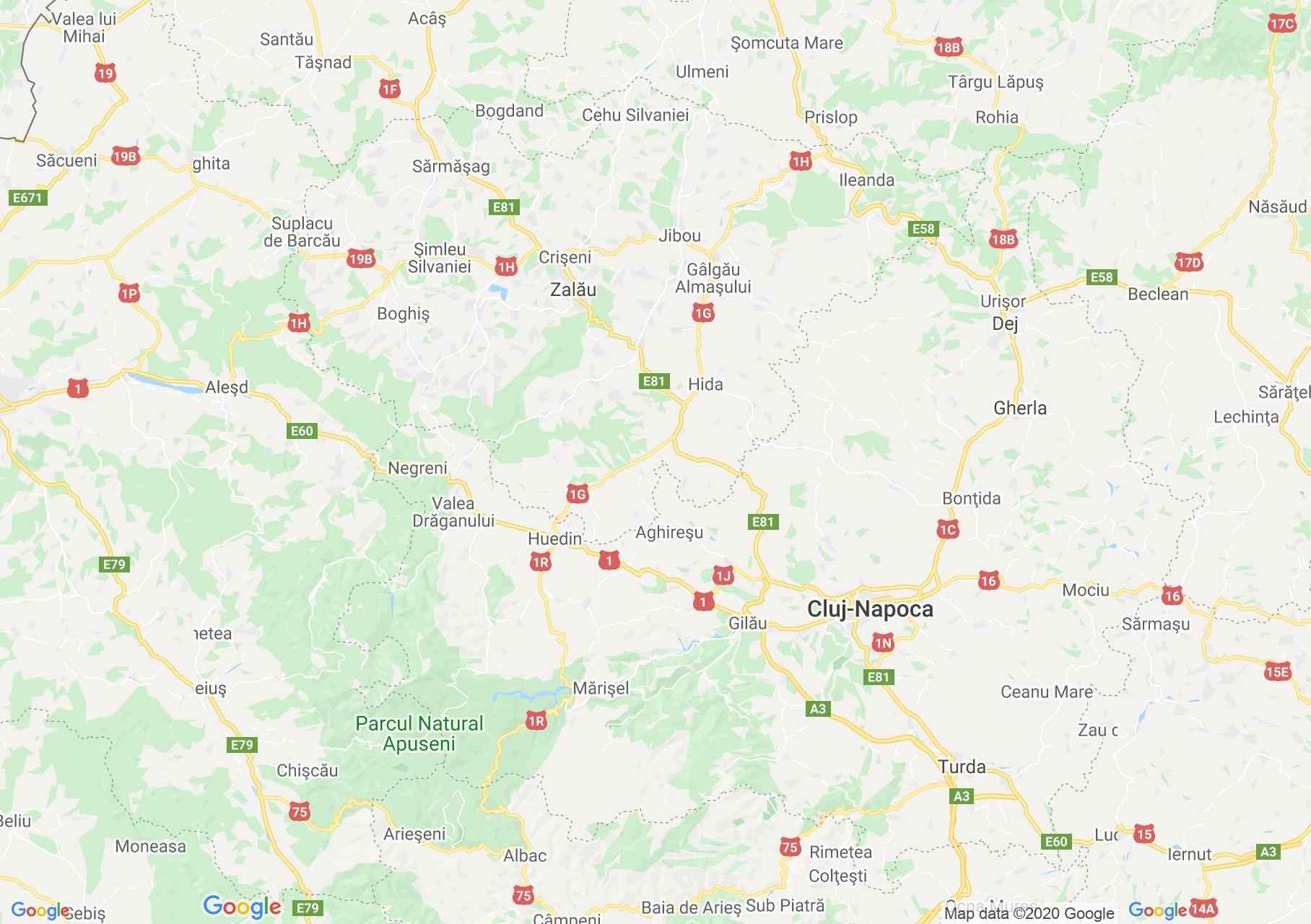 Dn1f Zalău Cluj Harta Turistică Interactivă