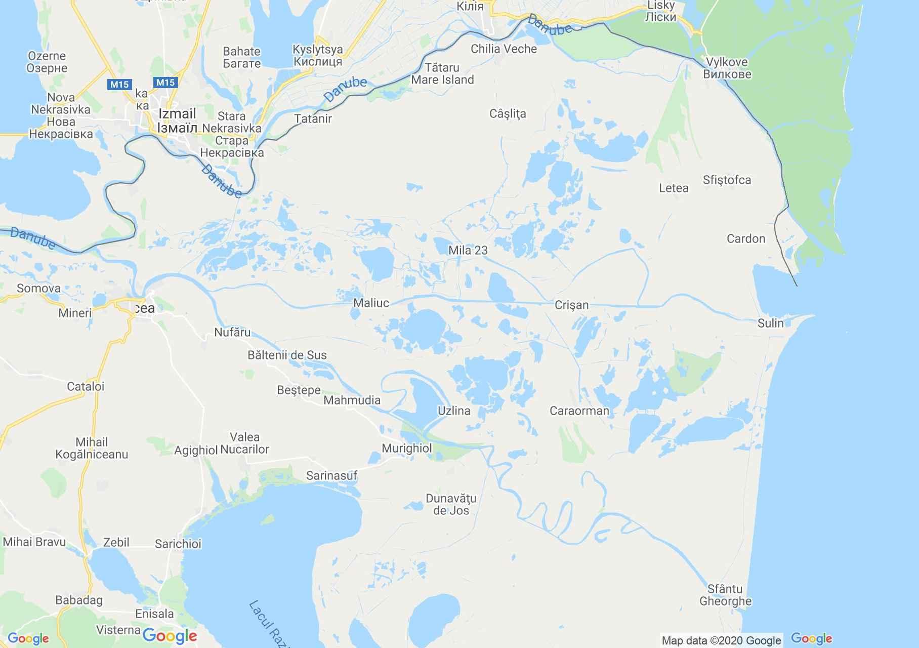 Danube Delta, Interactive tourist map