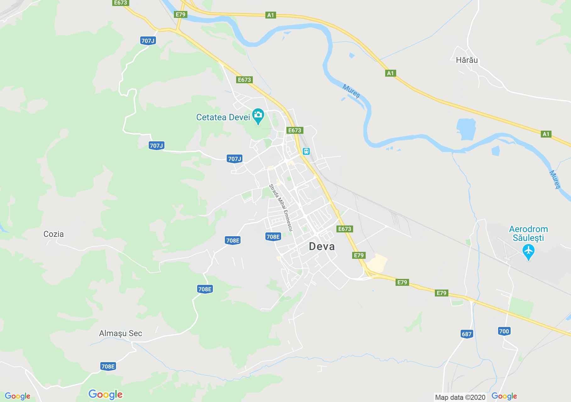 Deva, Harta turistică interactivă