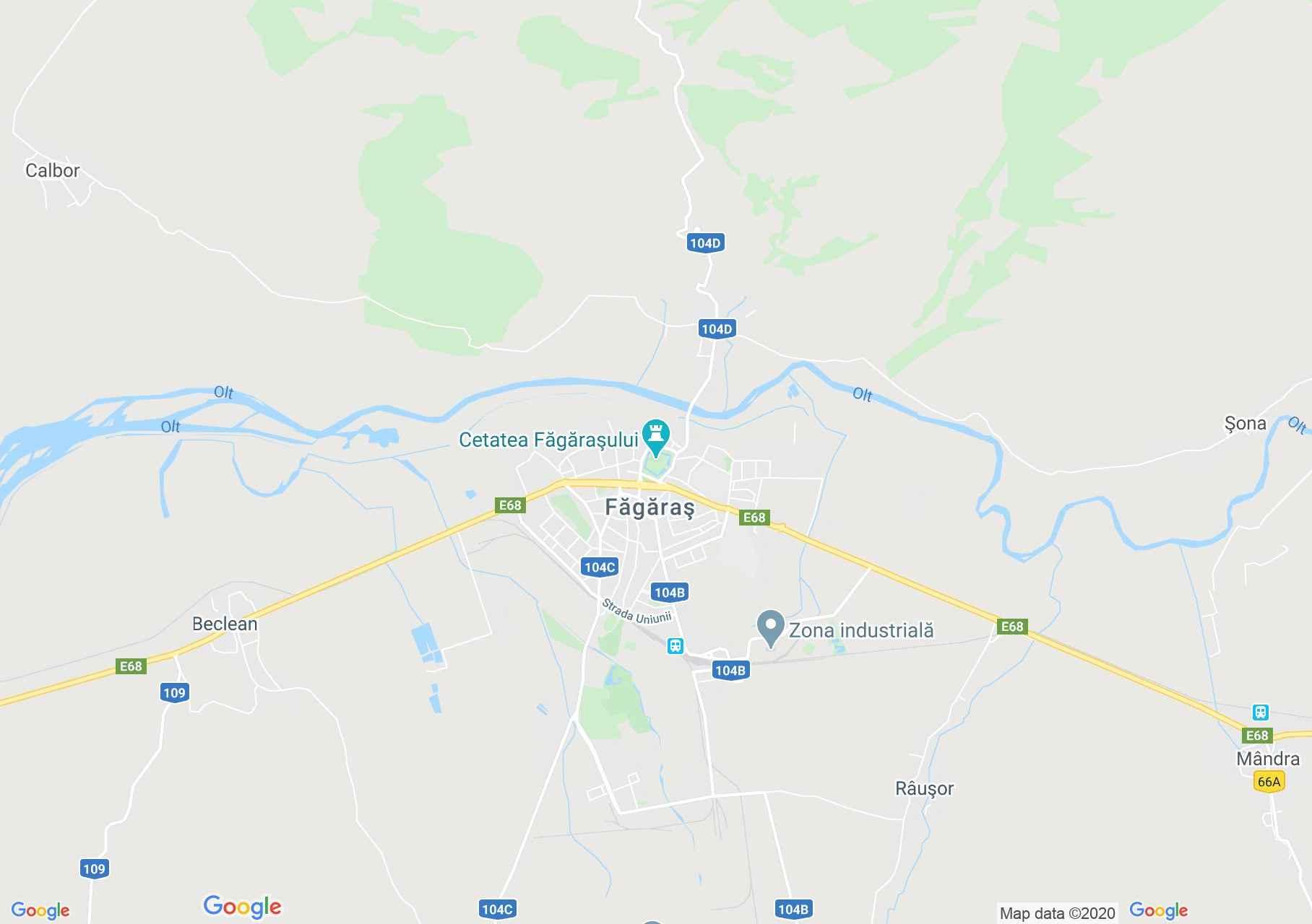 Făgăraş, Interactive tourist map