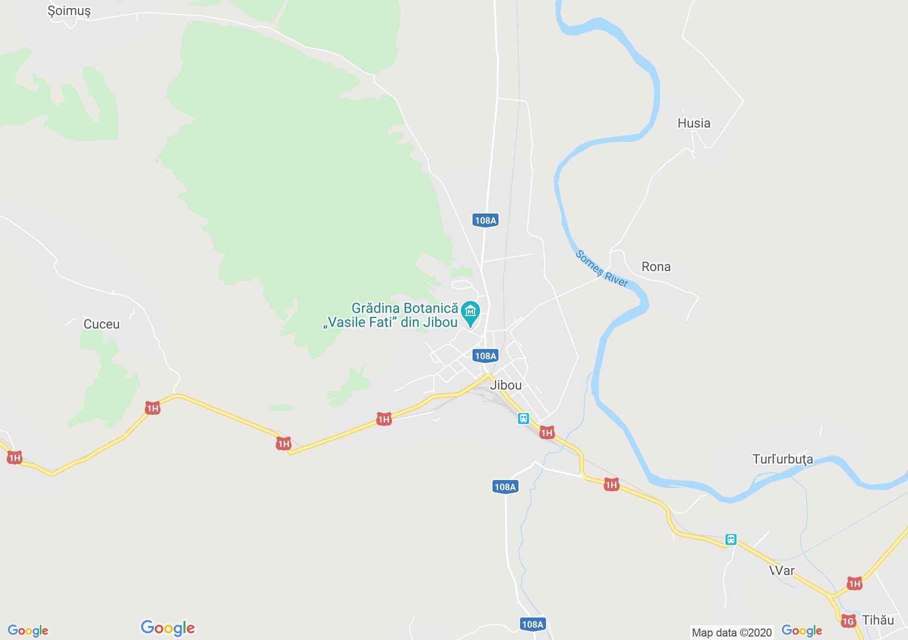 Jibou, Interactive tourist map