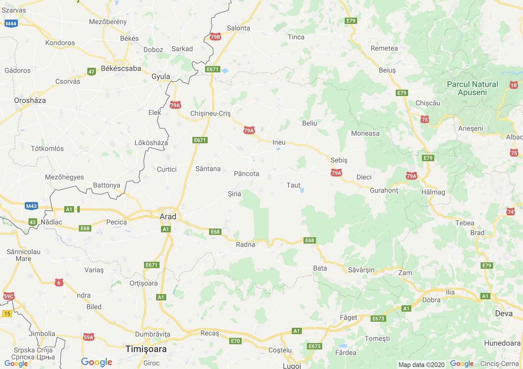 Judeţul Arad: (Arad), Harta turistică interactivă