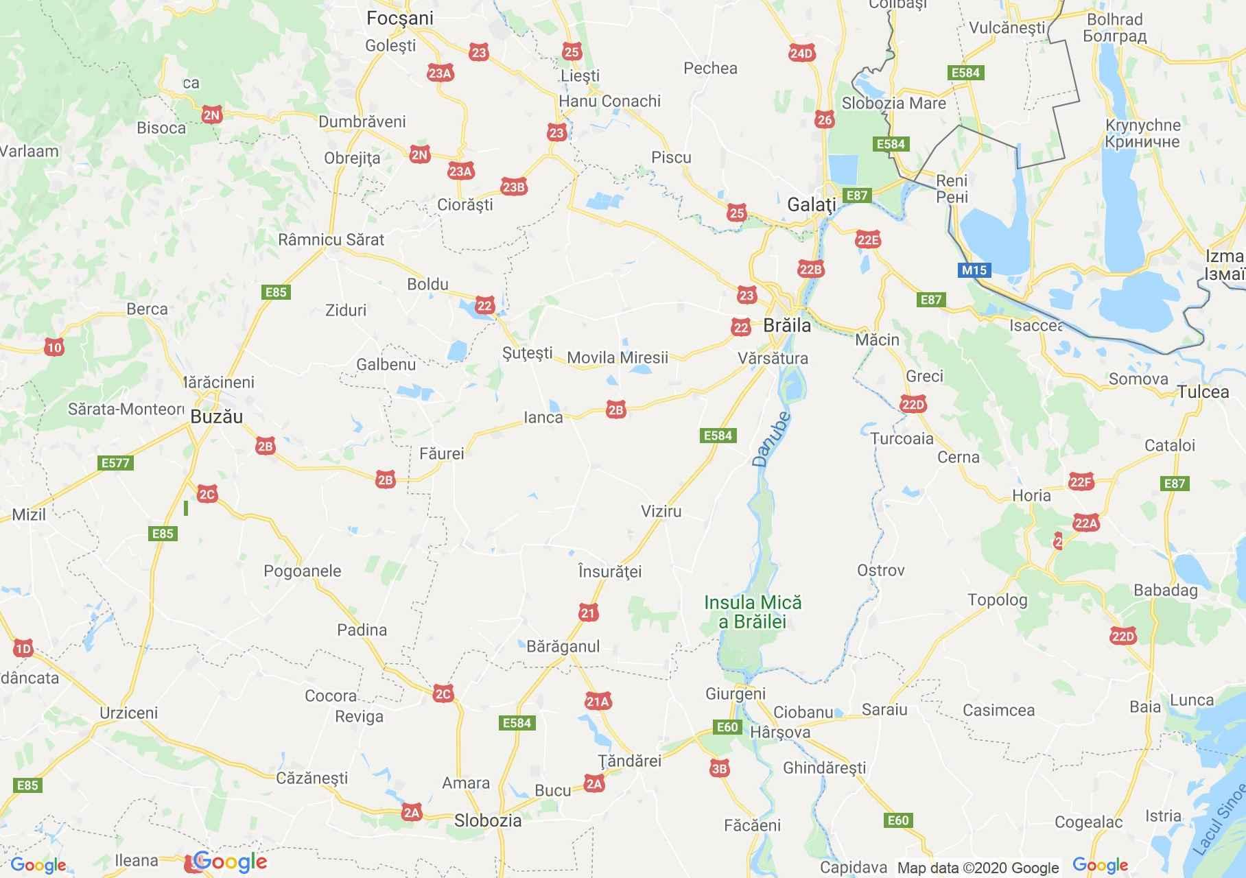 Brăila county: (Brăila), Interactive tourist map