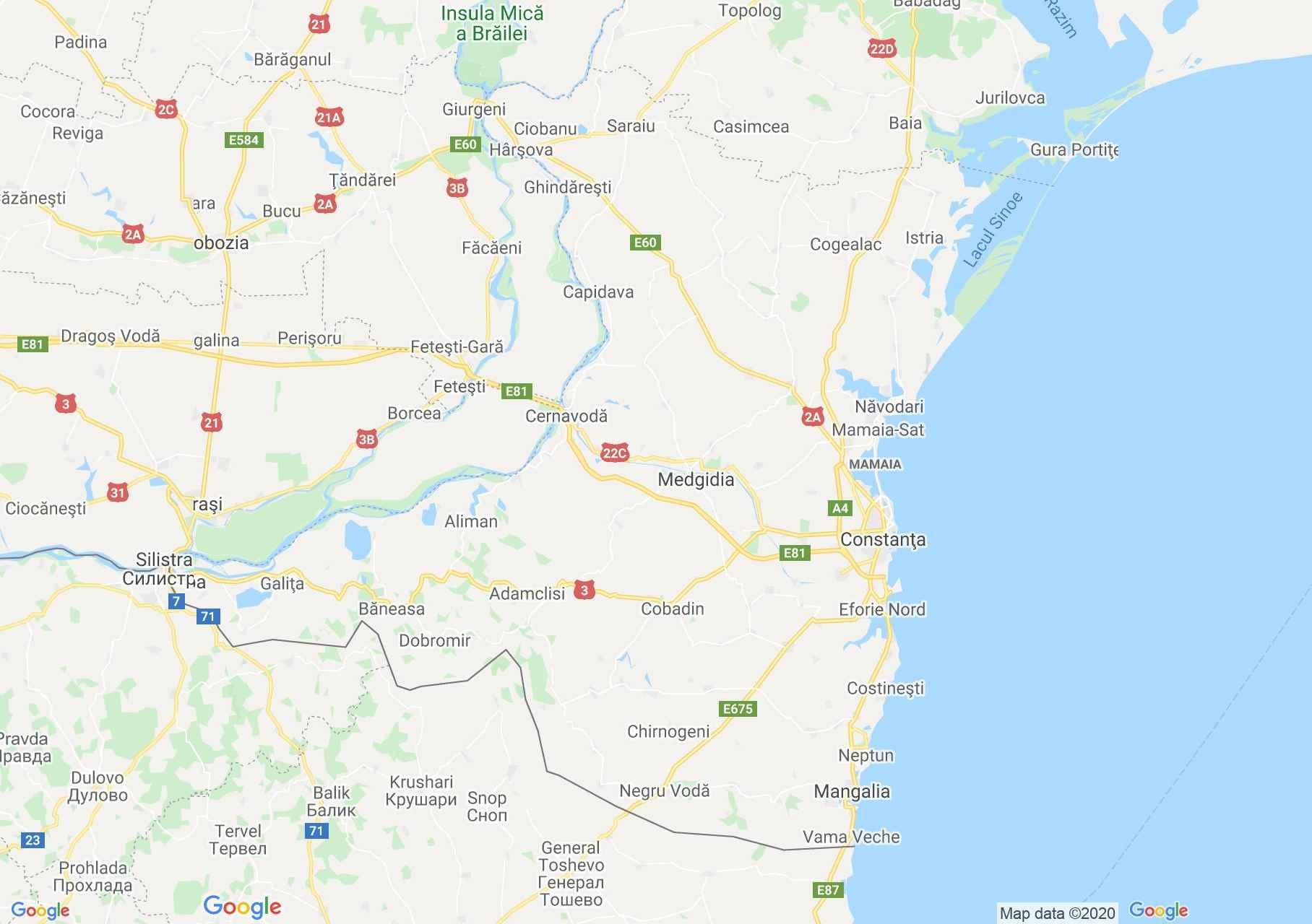 Judeţul Constanţa: (Constanța), Harta turistică interactivă