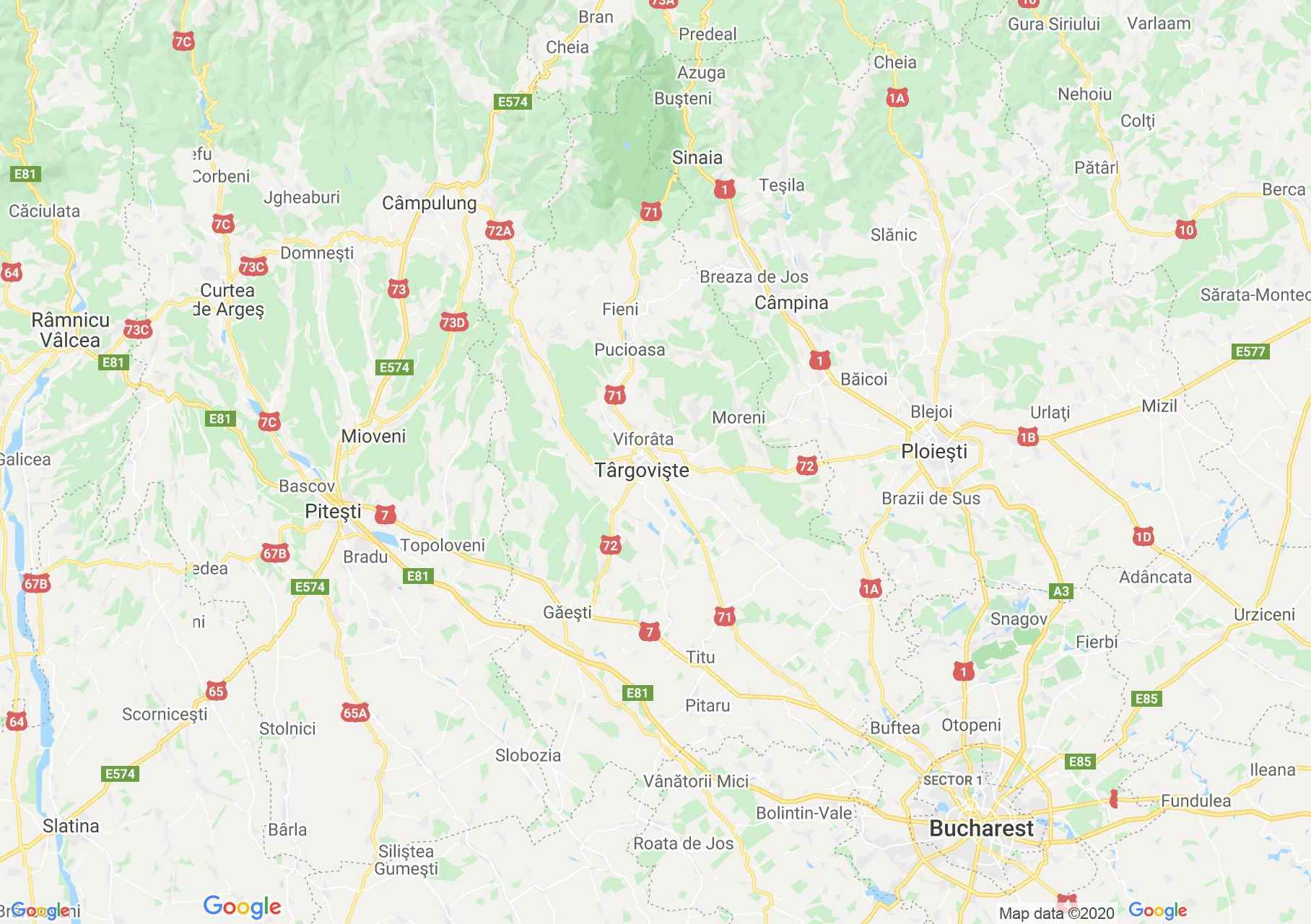 Dâmboviţa county: (Târgoviște), Interactive tourist map