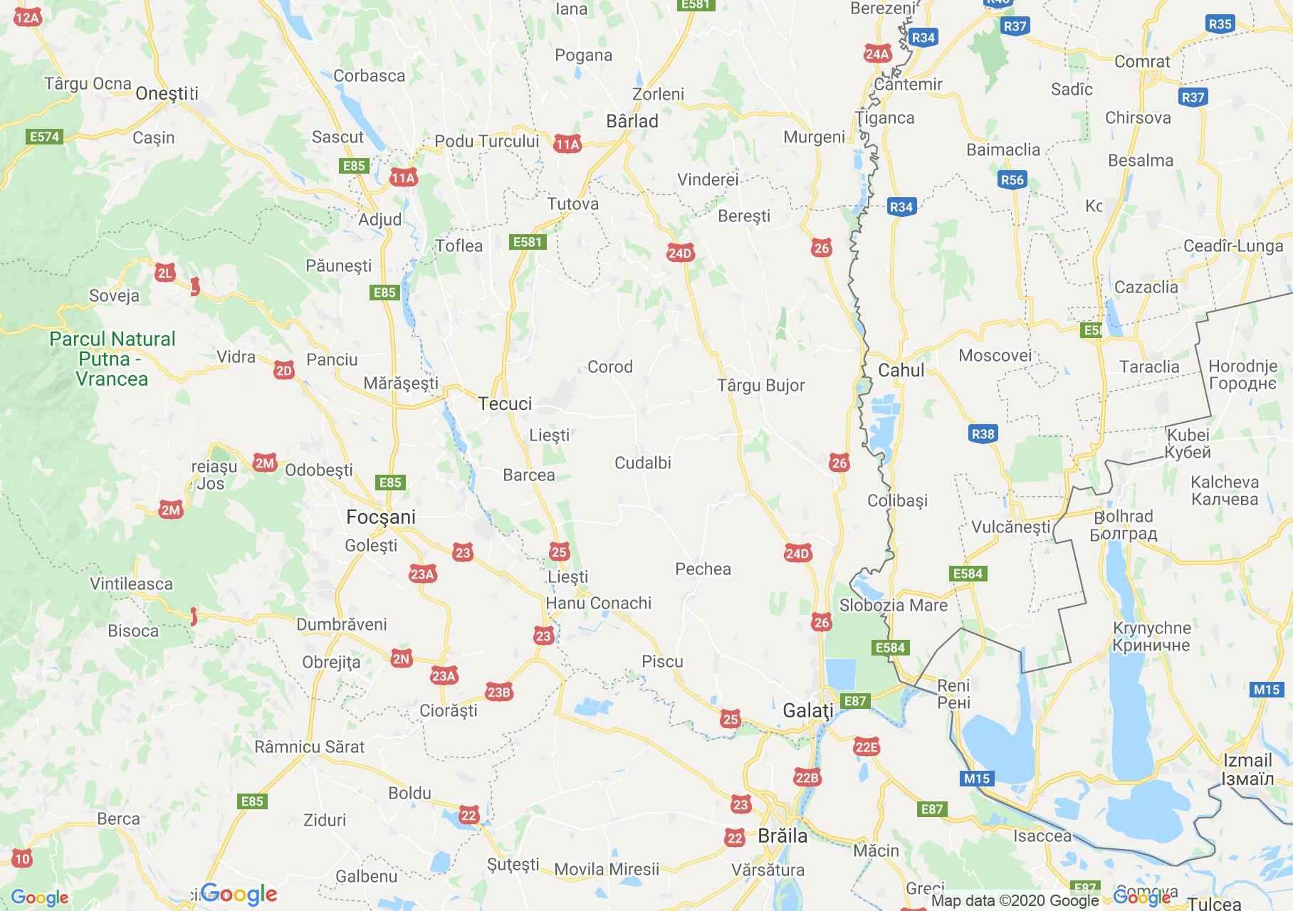 Judeţul Galaţi: (Galați), Harta turistică interactivă