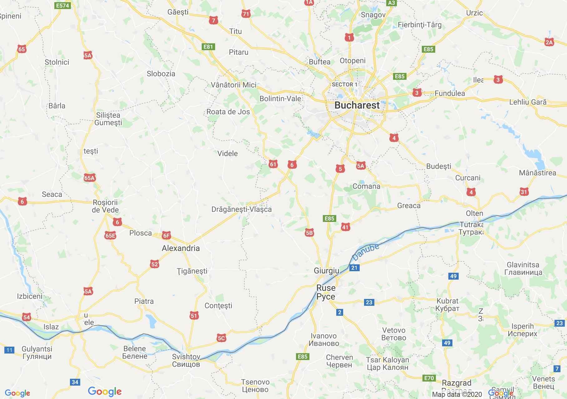 Judeţul Giurgiu: (Giurgiu), Harta turistică interactivă