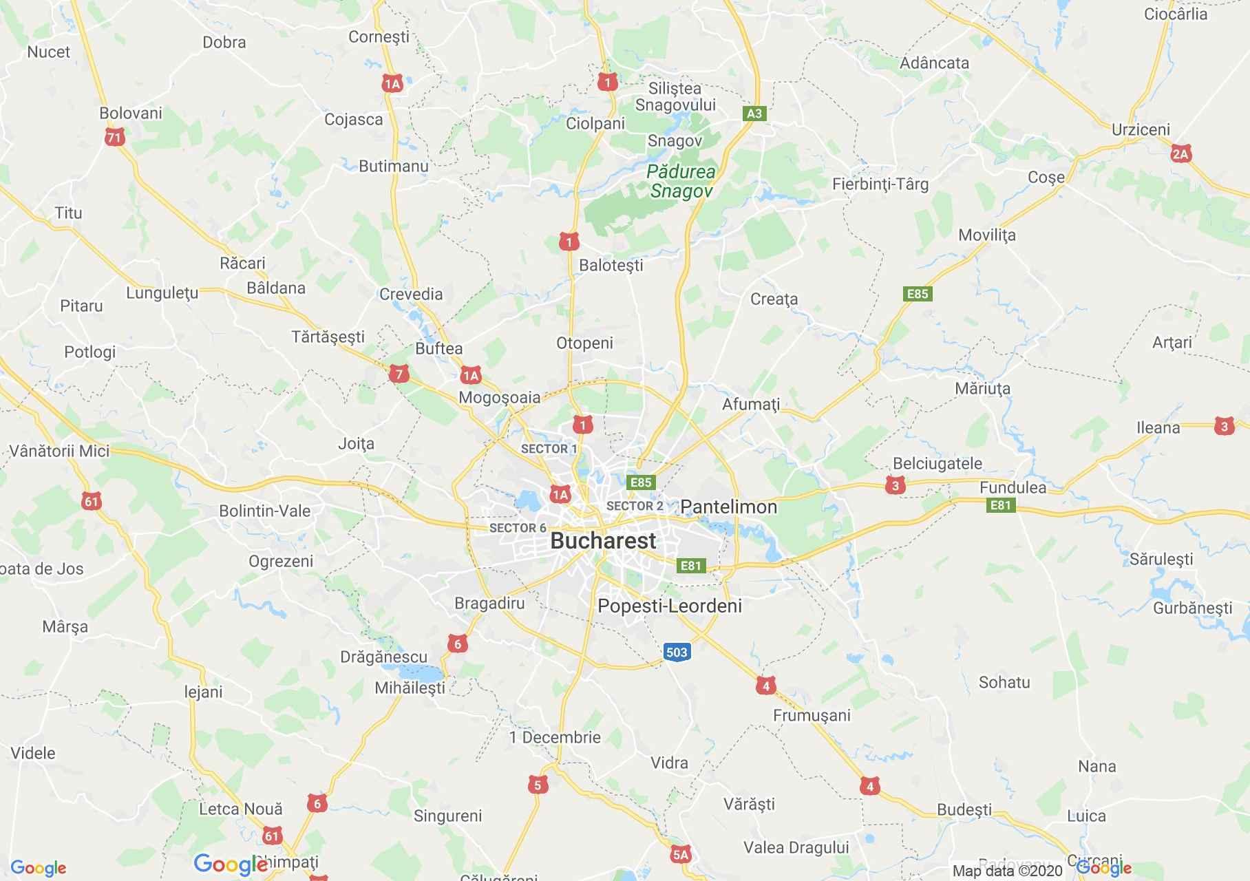 Judeţul Ilfov: (București), Harta turistică interactivă