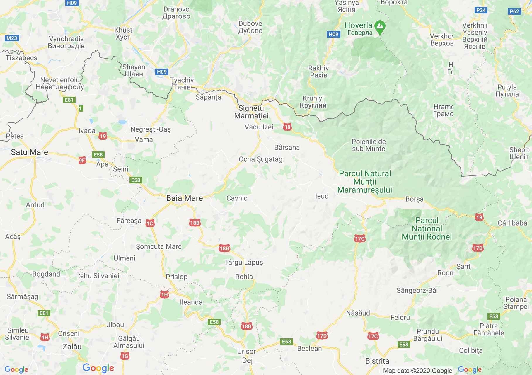 Maramureş county: (Baia Mare), Interactive tourist map