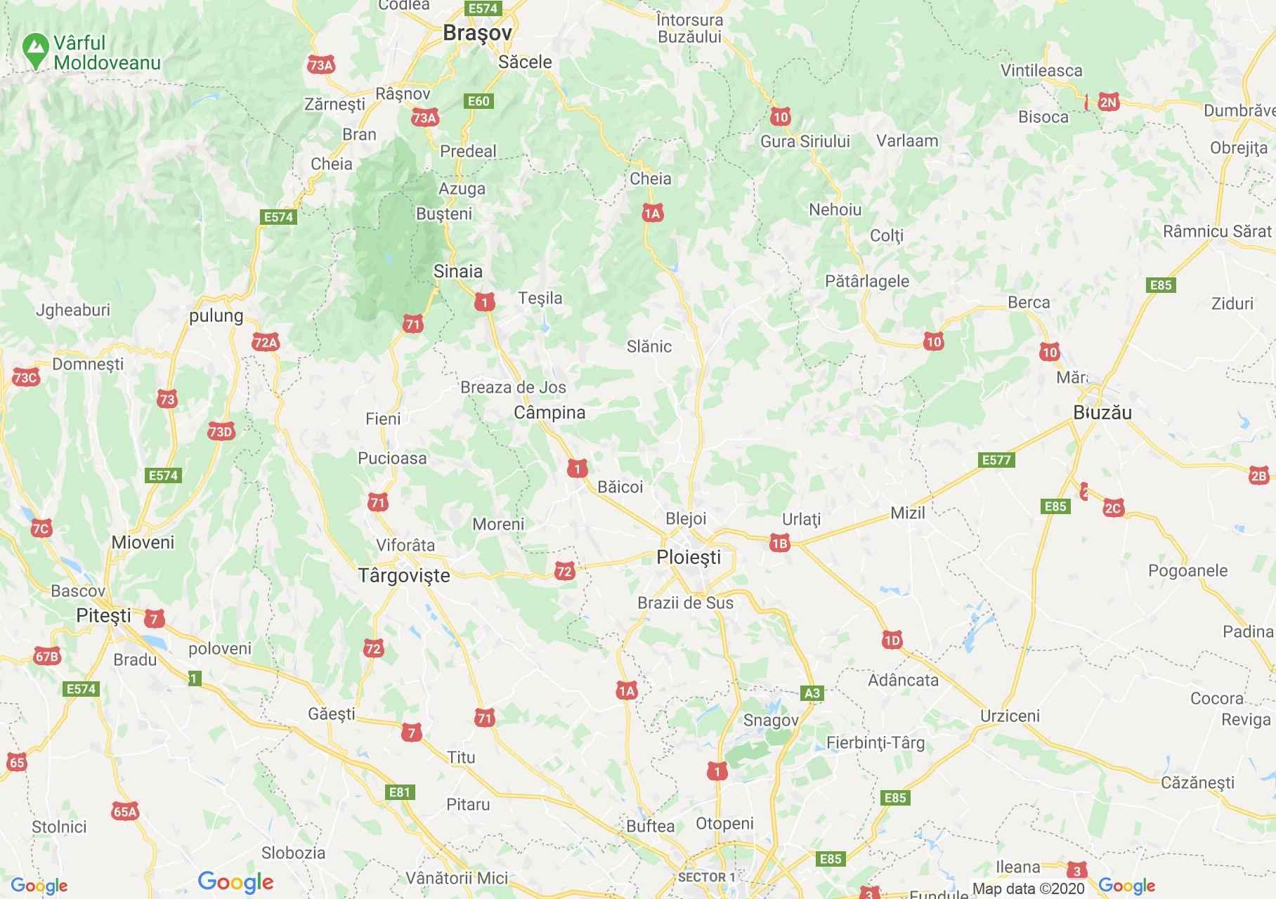 Judeţul Prahova: (Ploiești), Harta turistică interactivă