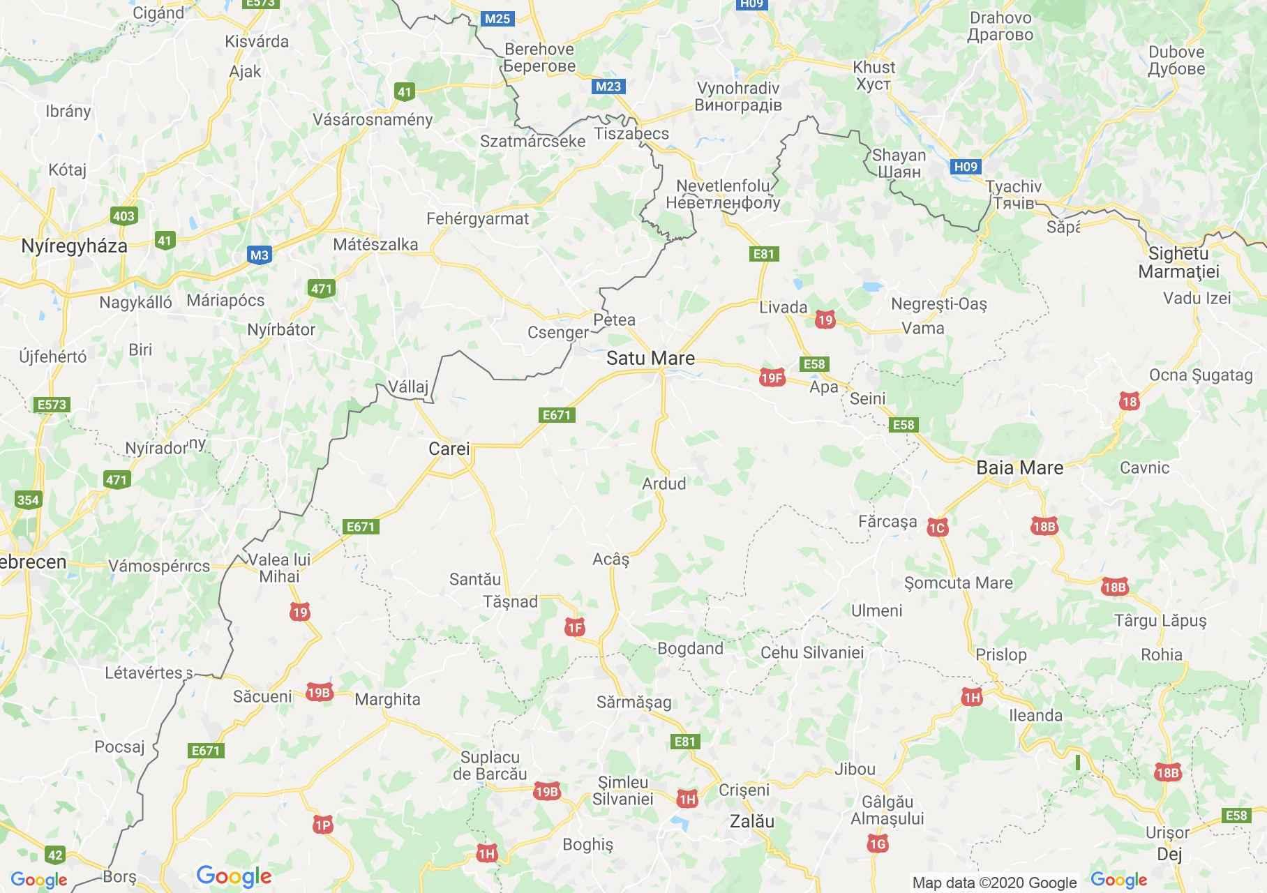Judeţul Satu Mare: (Satu-Mare), Harta turistică interactivă
