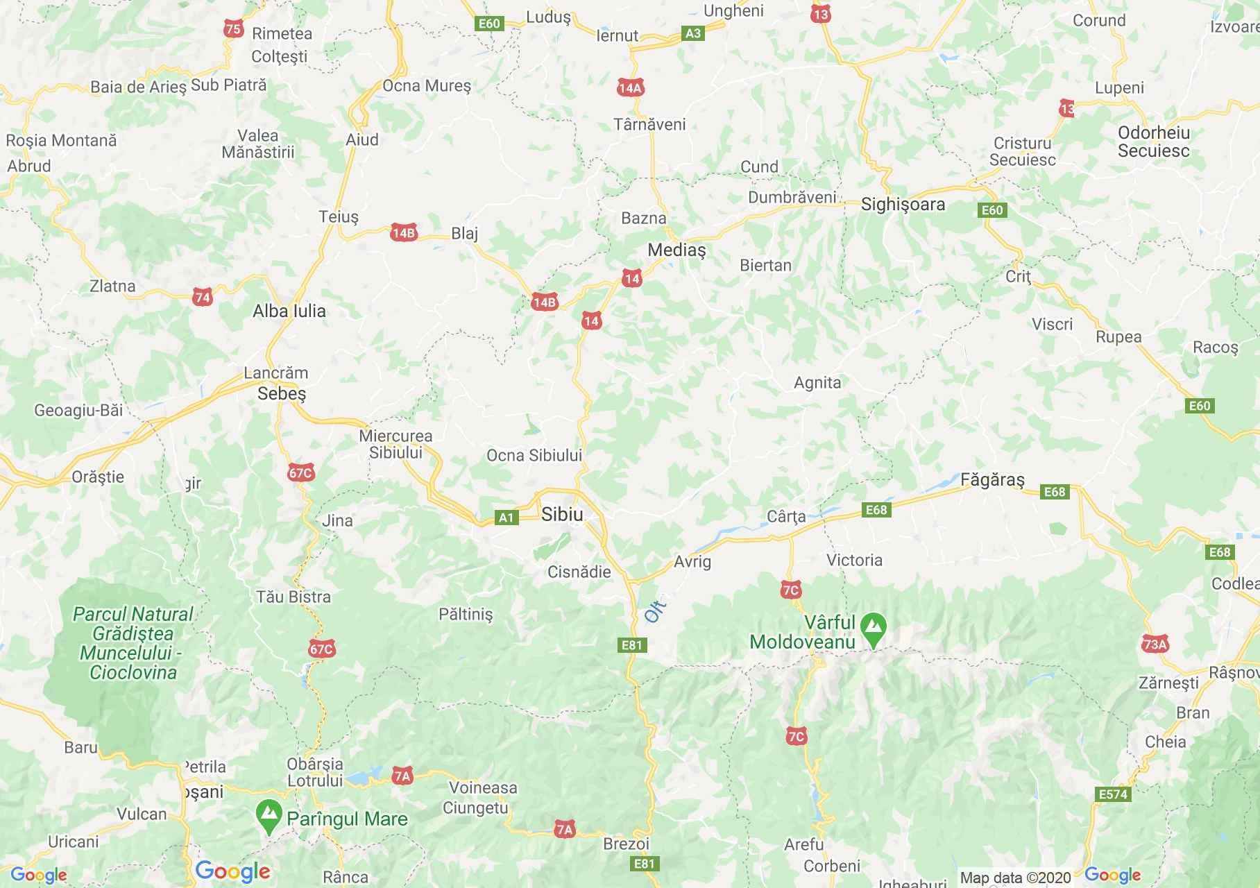 Sibiu county: (Sibiu), Interactive tourist map