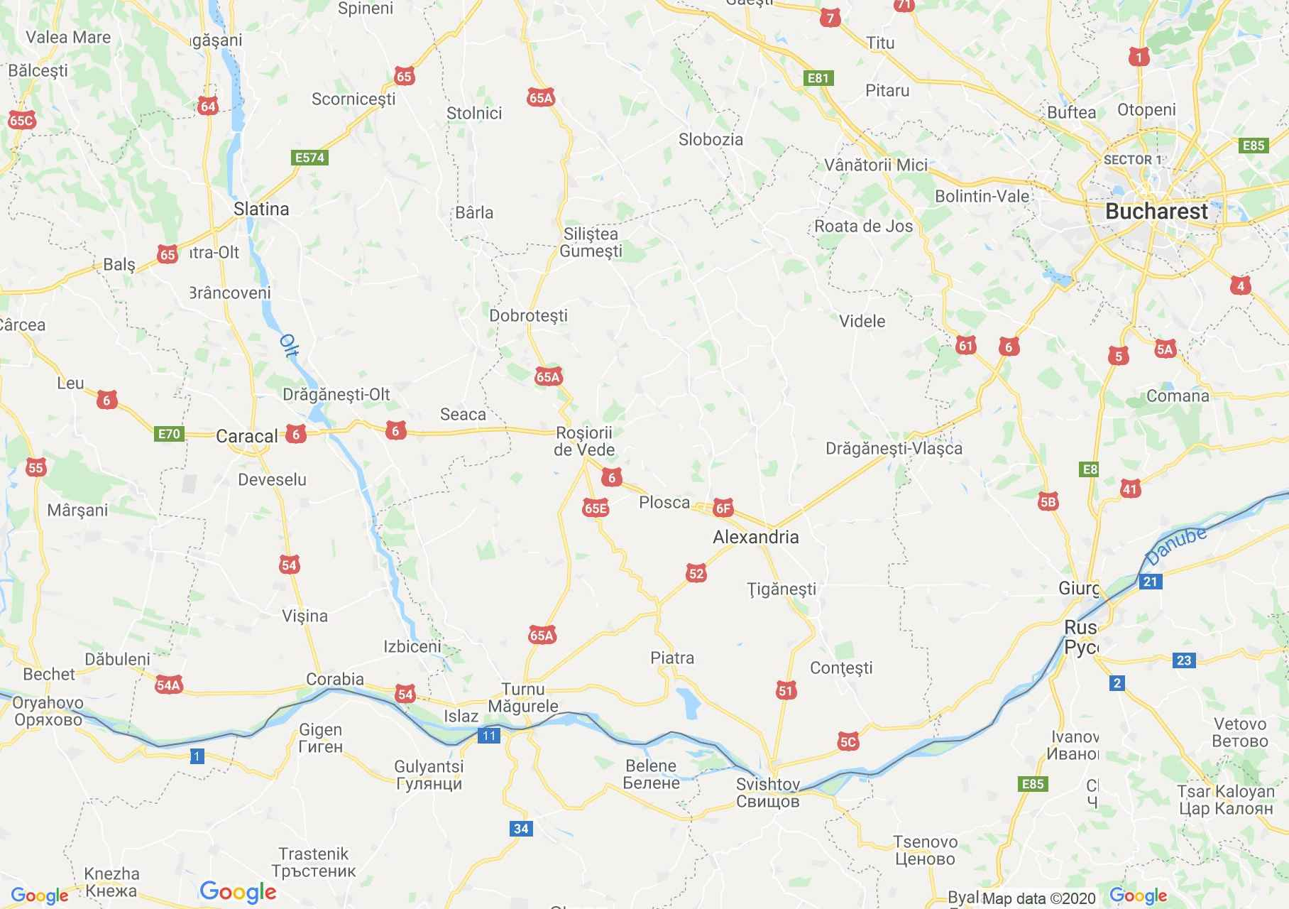 Teleorman megye: (Alexandria) interaktív turista térképe.