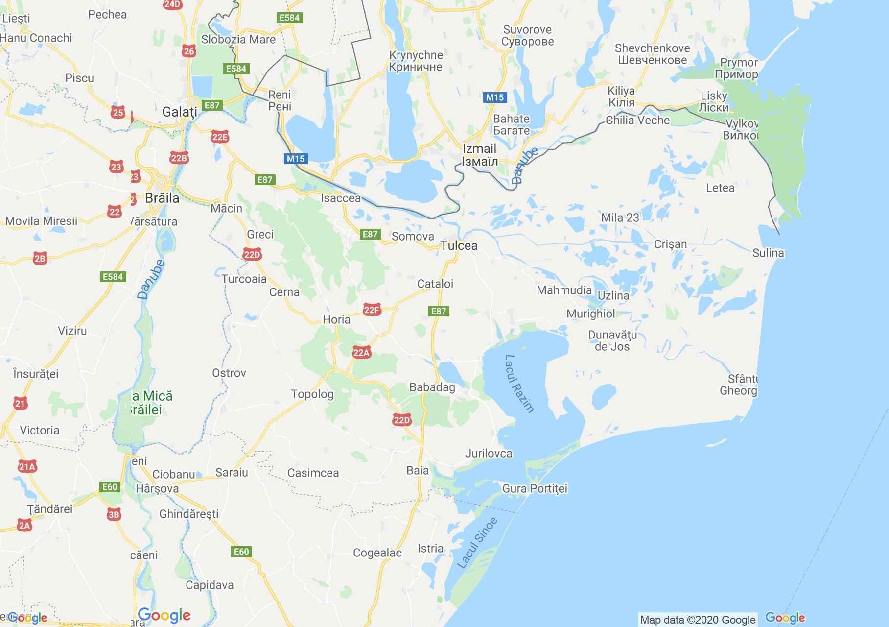 Tulcea county: (Tulcea), Interactive tourist map