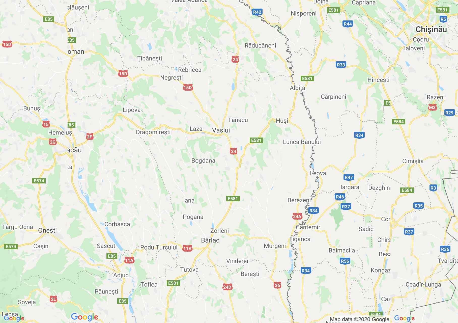 Vászló megye: (Vázsló) interaktív turista térképe.