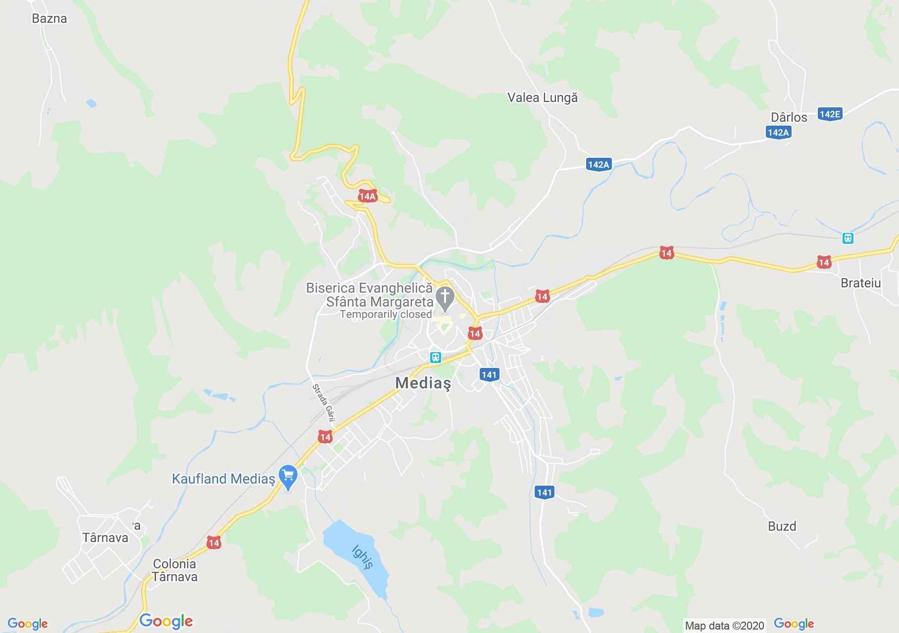 Mediaş, Harta turistică interactivă