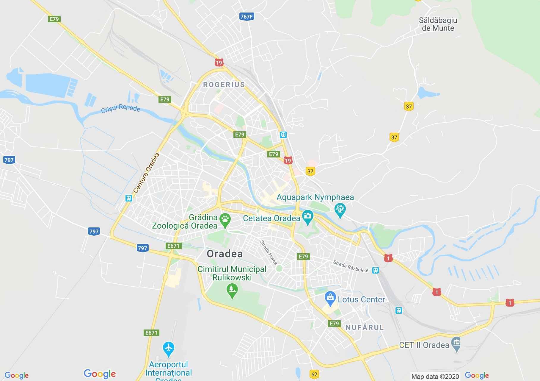 Oradea, Interactive tourist map