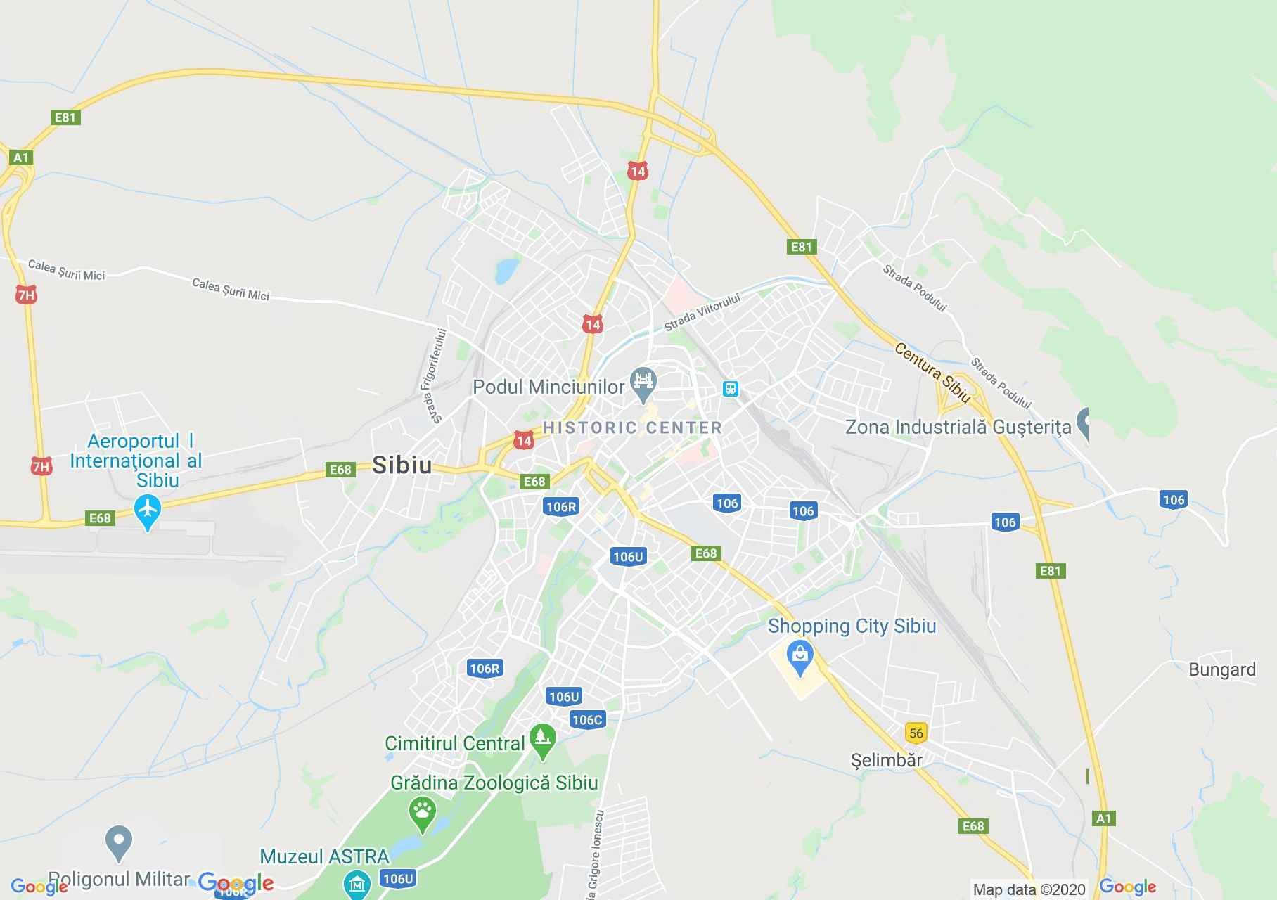 Sibiu, Interactive tourist map