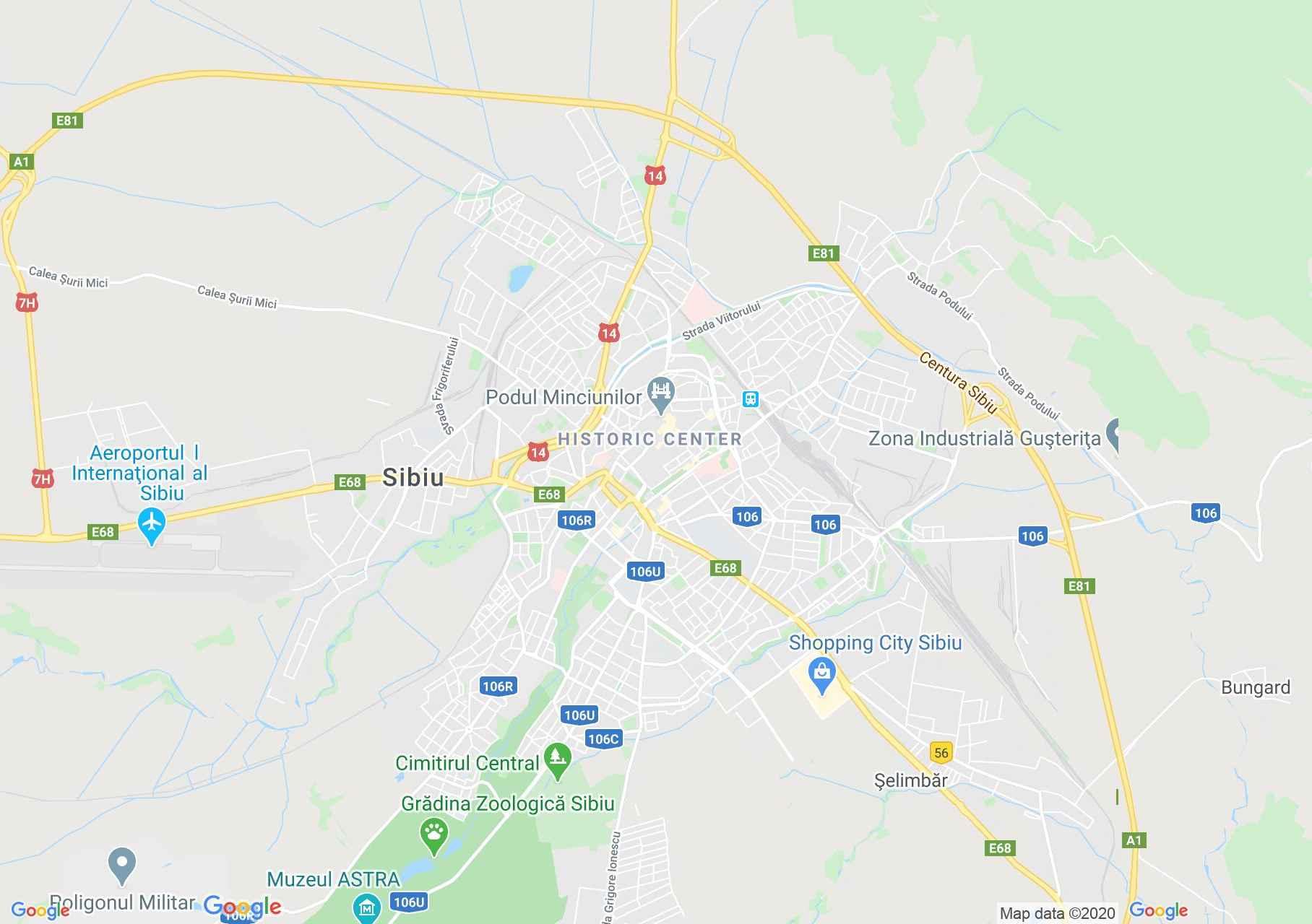 Sibiu, Harta turistică interactivă