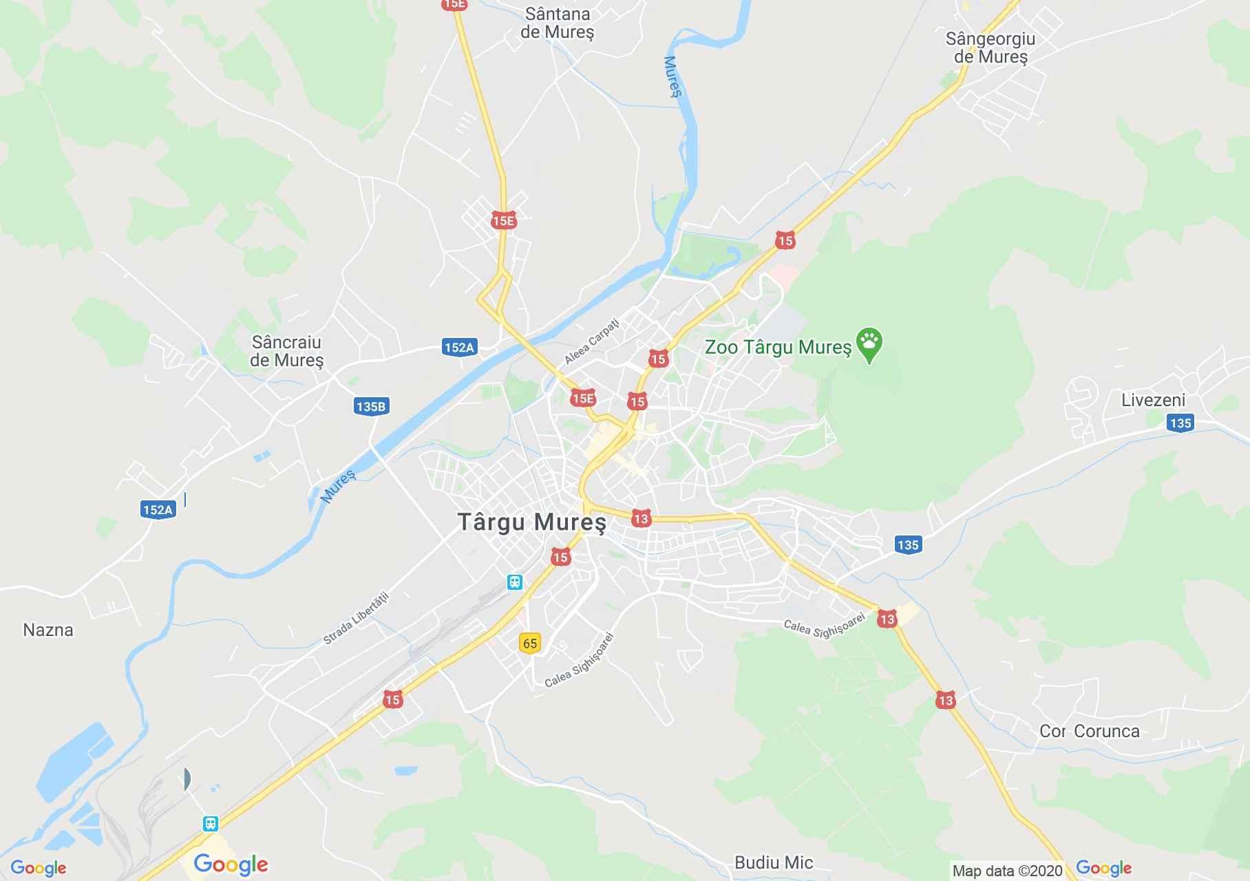 Târgu Mureş, Interactive tourist map