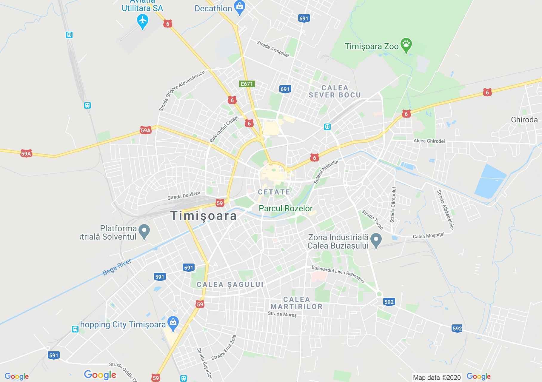 Timişoara, Interactive tourist map