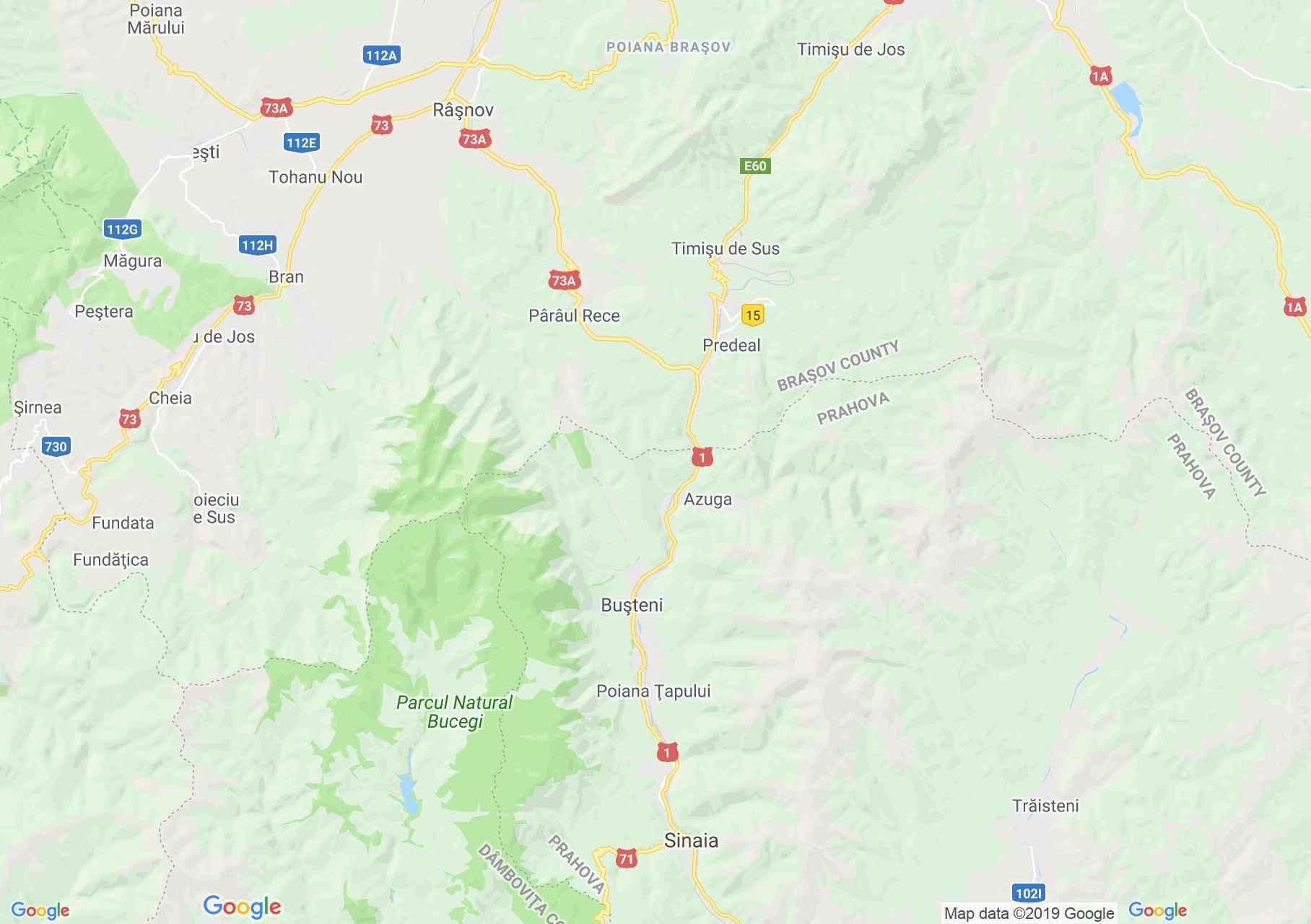Prahova Valey, Interactive tourist map