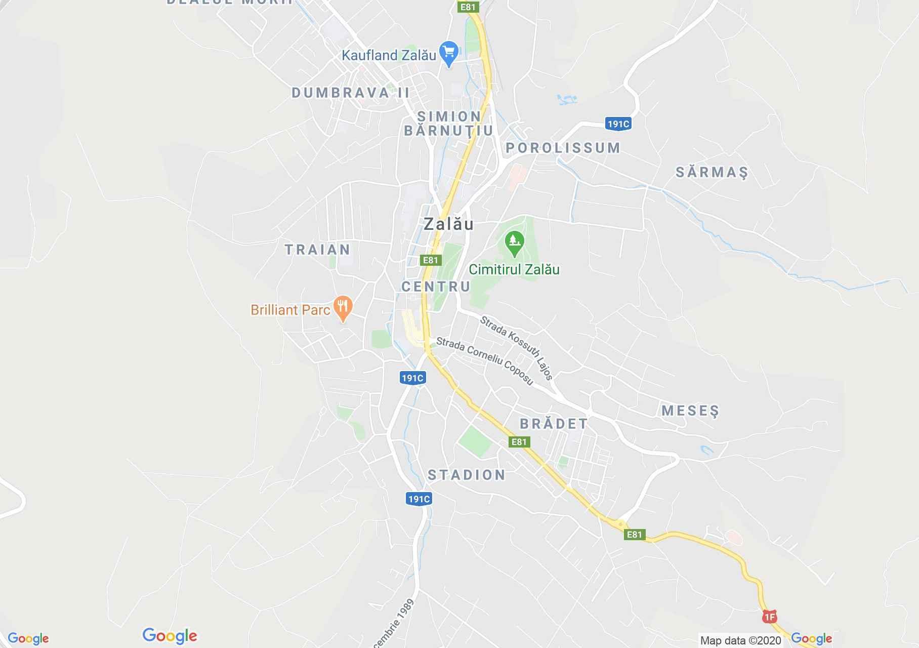 Zalău, Interactive tourist map