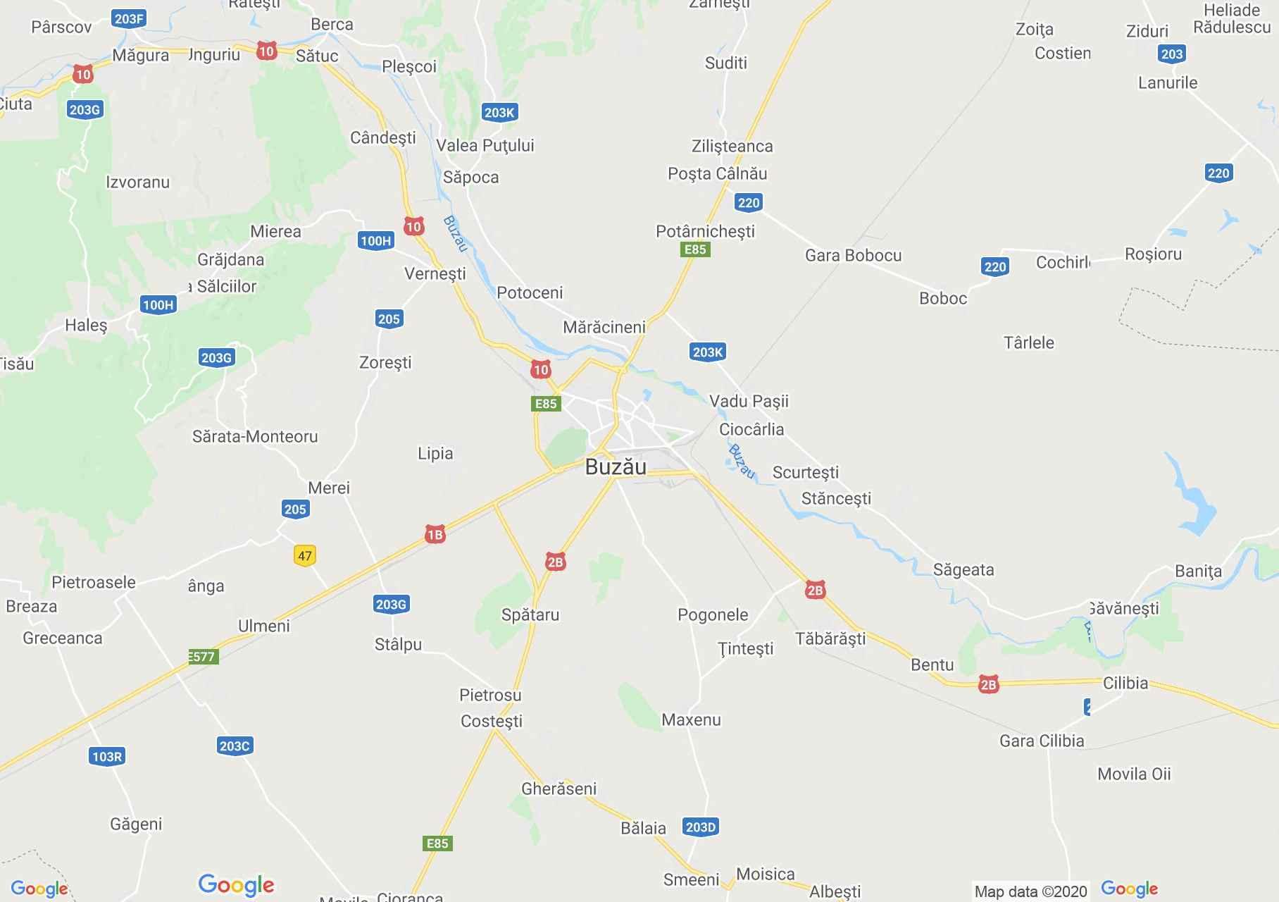 Buzău area, Interactive tourist map
