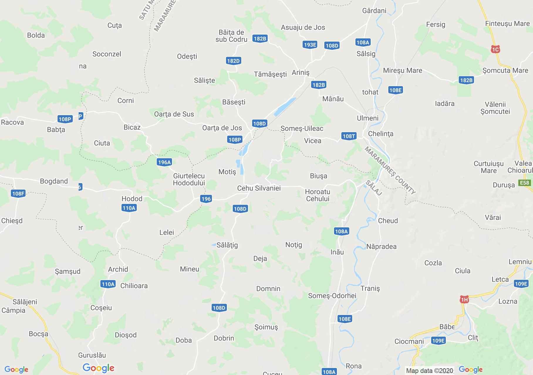 Szilágycseh - Hadad interaktív turista térképe.