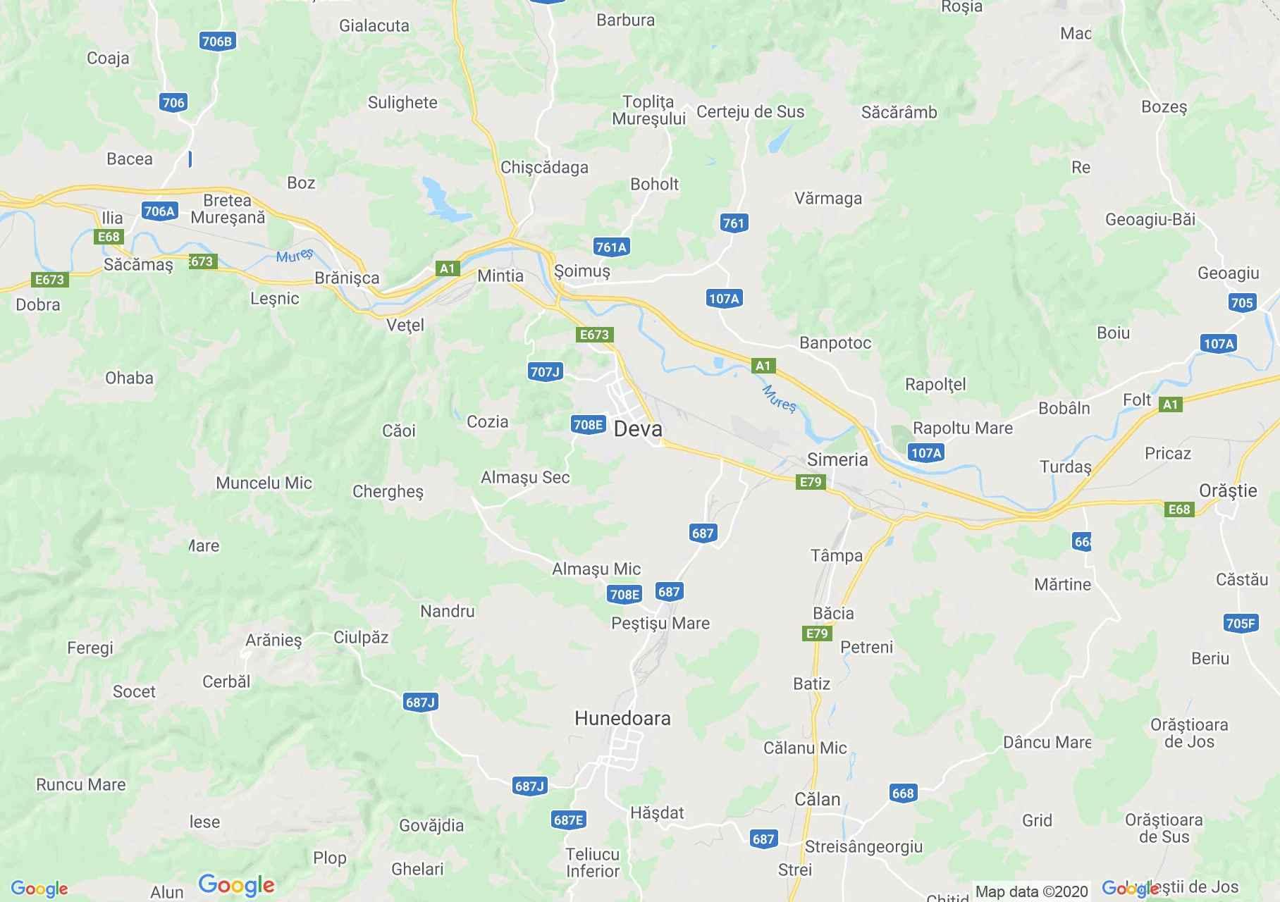 Deva area, Interactive tourist map