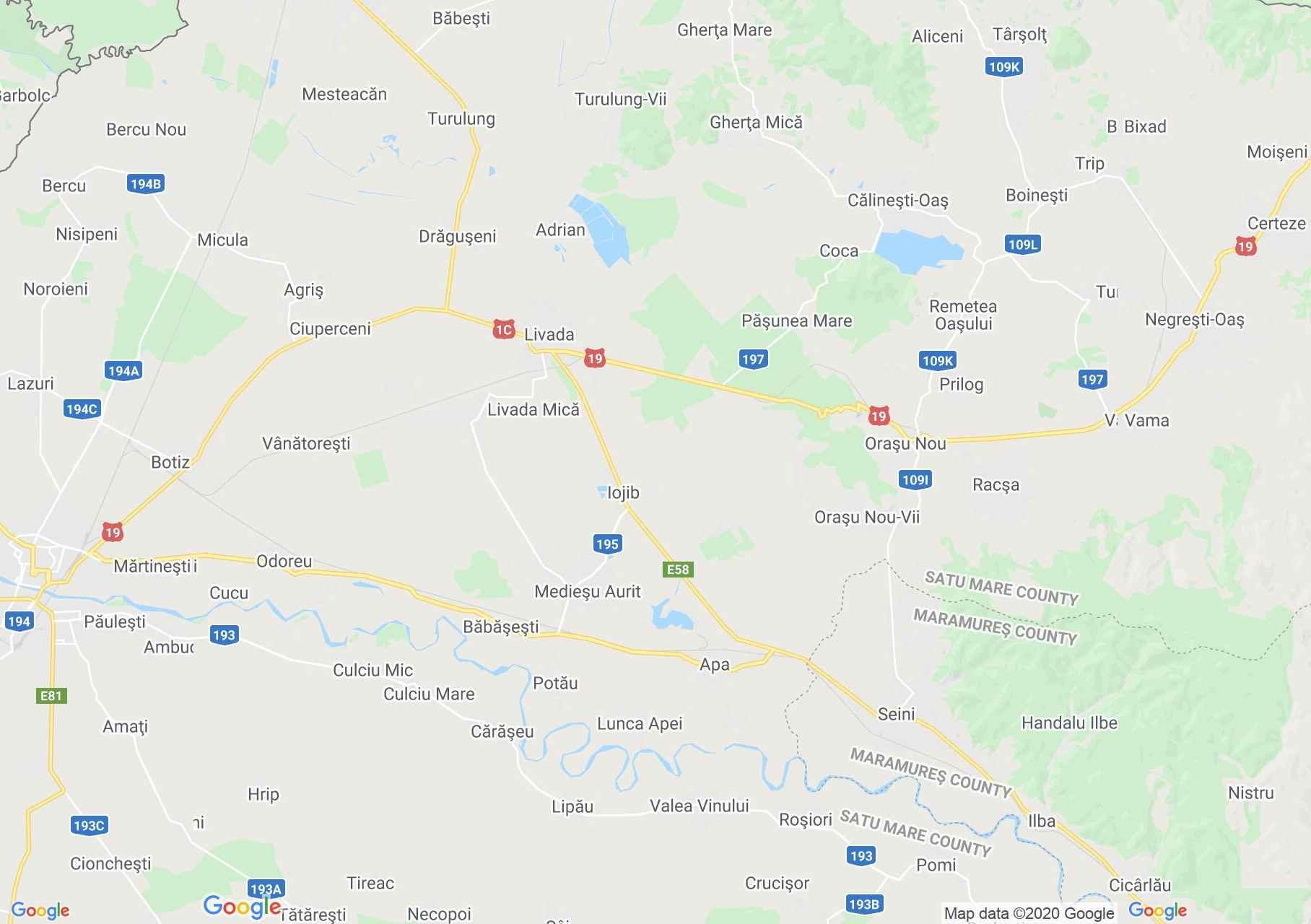 Halmi és Szinérváralja interaktív turista térképe.