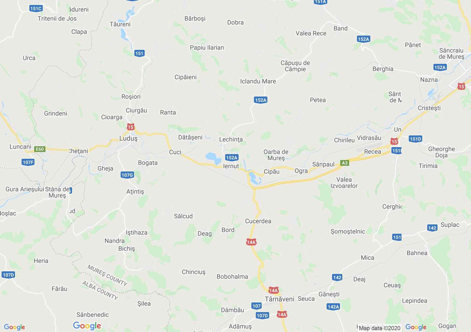 Iernut area, Interactive tourist map