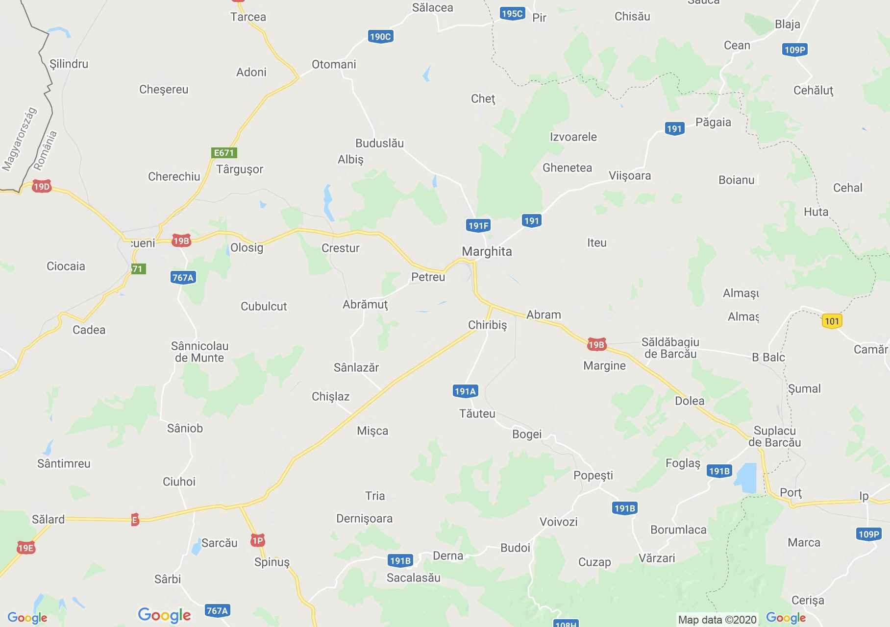 Marghita area, Interactive tourist map