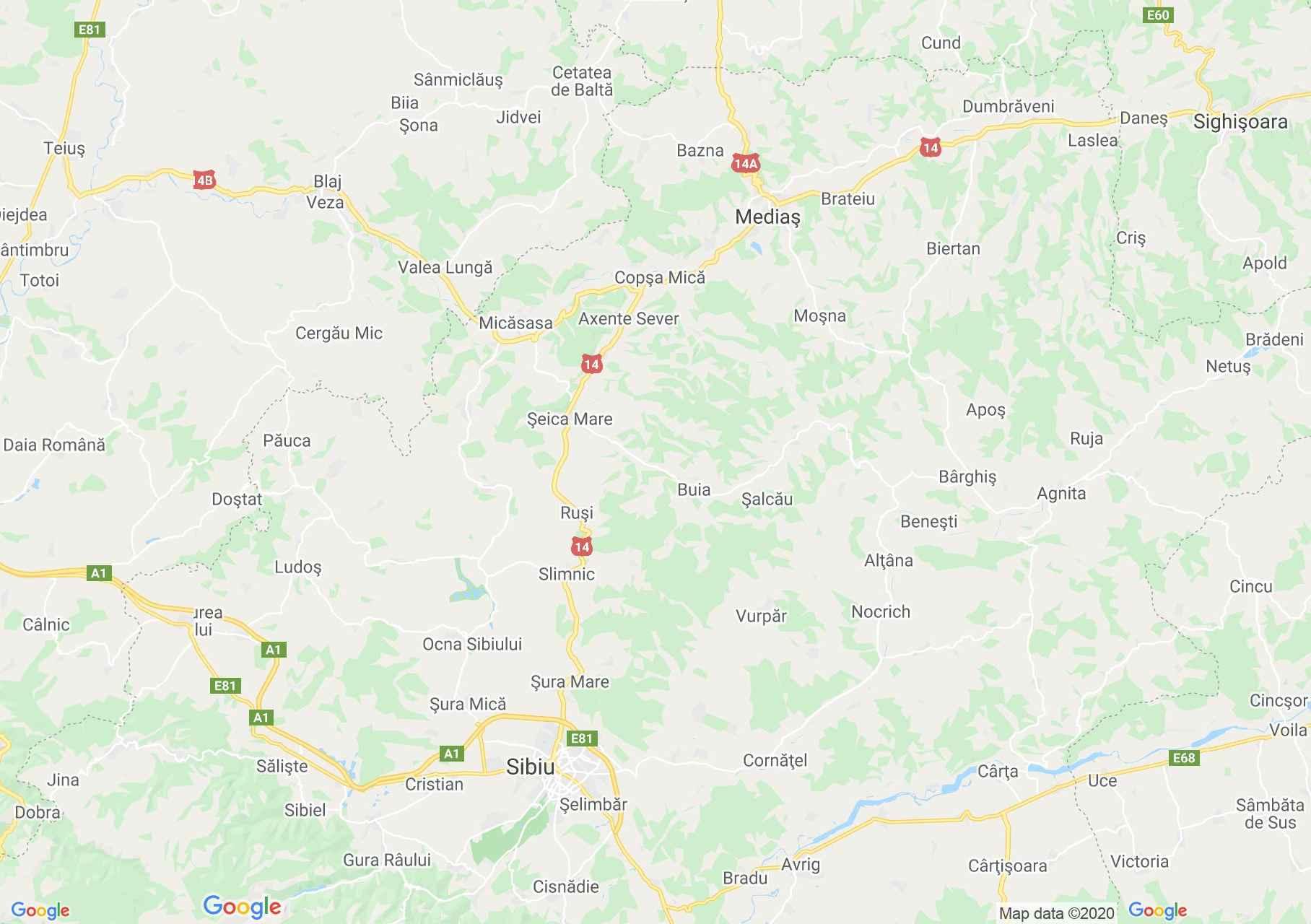 Sibiu-Mediaş area, Interactive tourist map