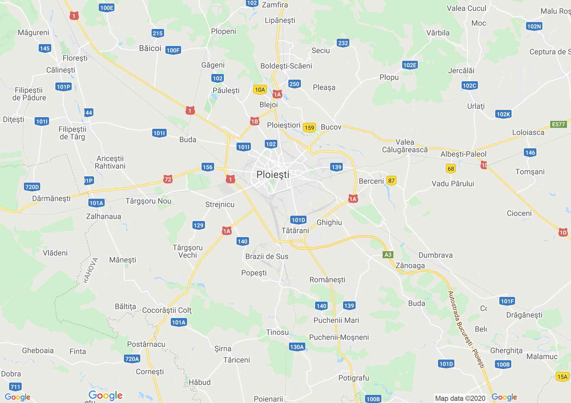 Ploiești area, Interactive tourist map