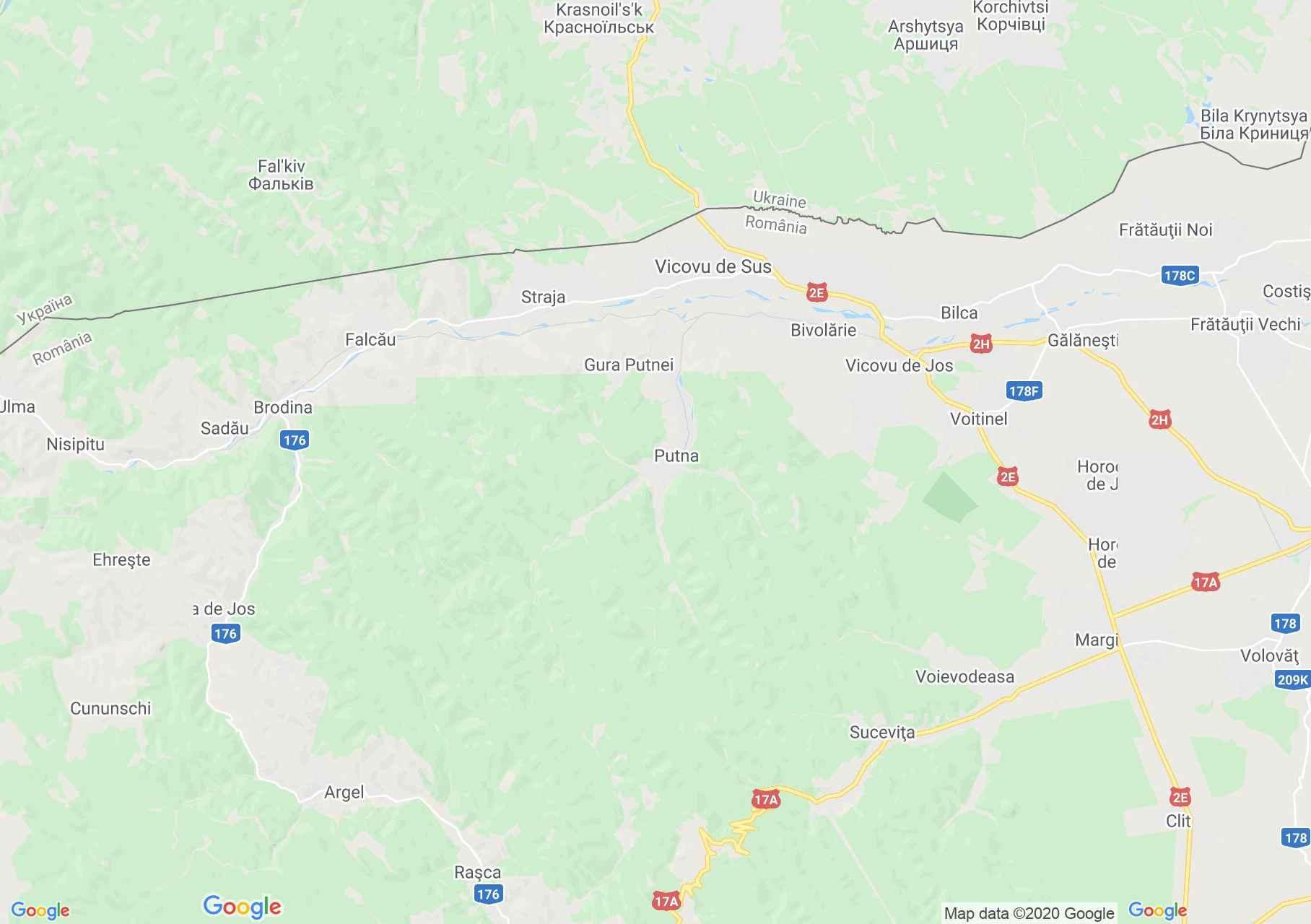 Zona Putna, Harta turistică interactivă