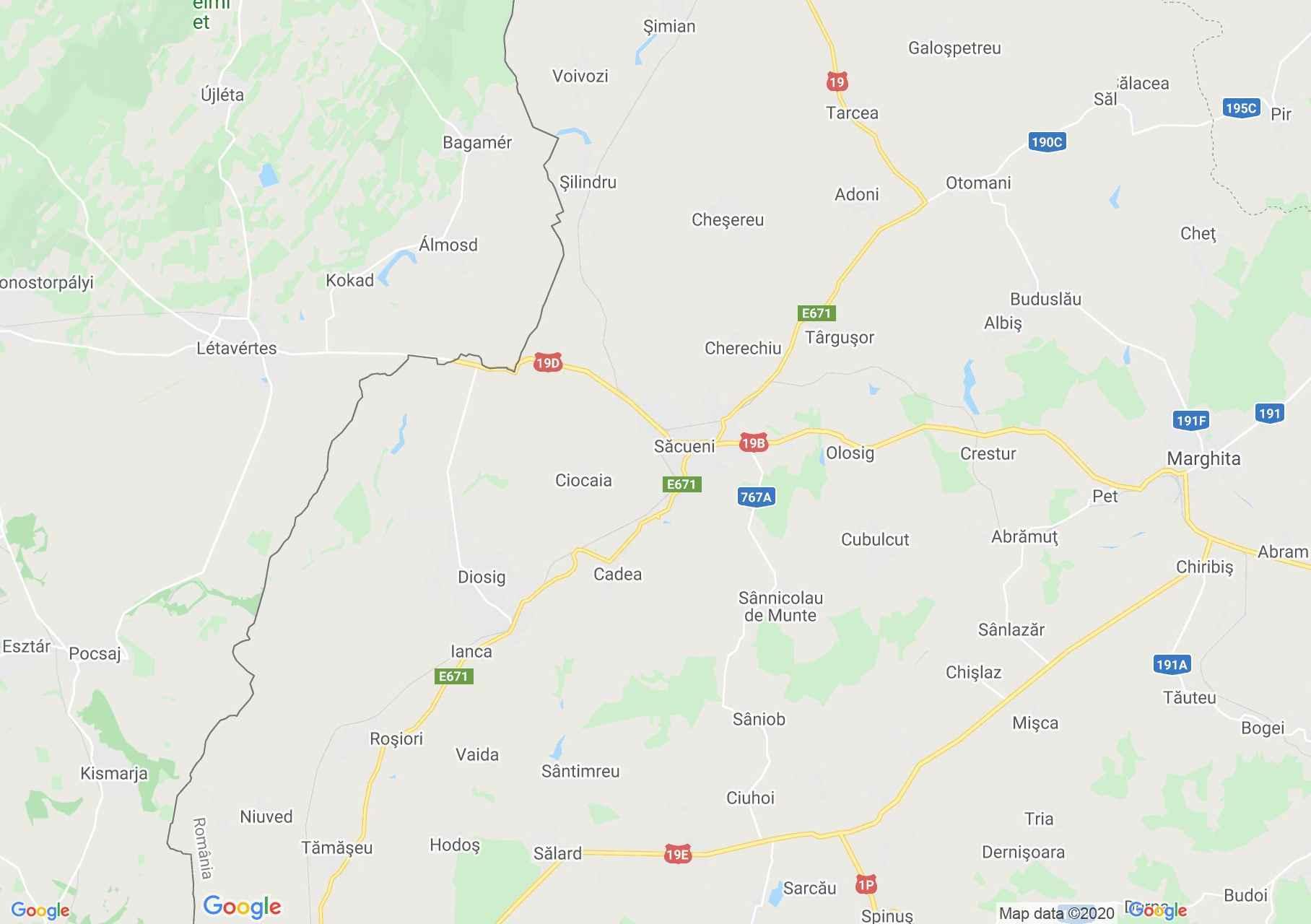 Zona Săcuieni, Harta turistică interactivă