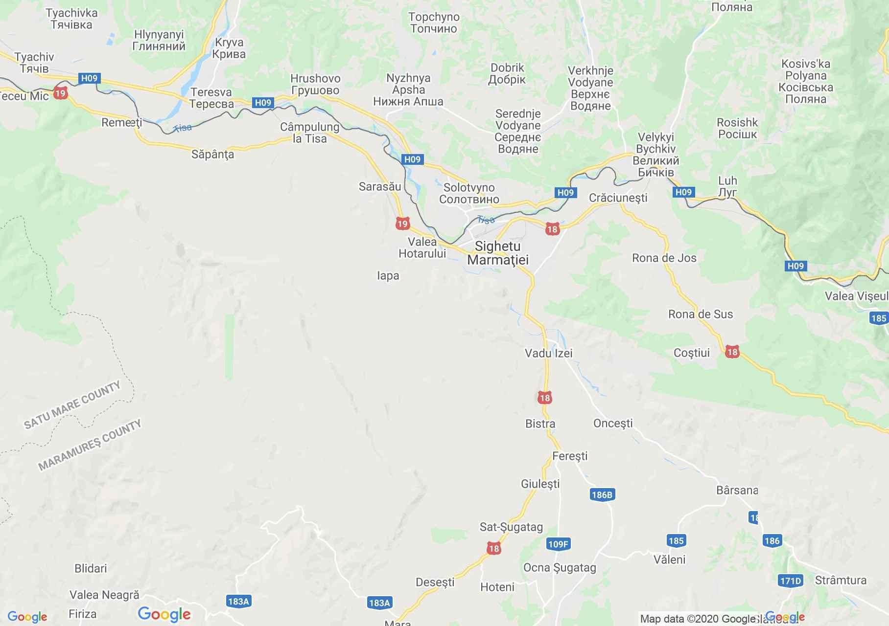 Sighetu Marmaţiei area, Interactive tourist map