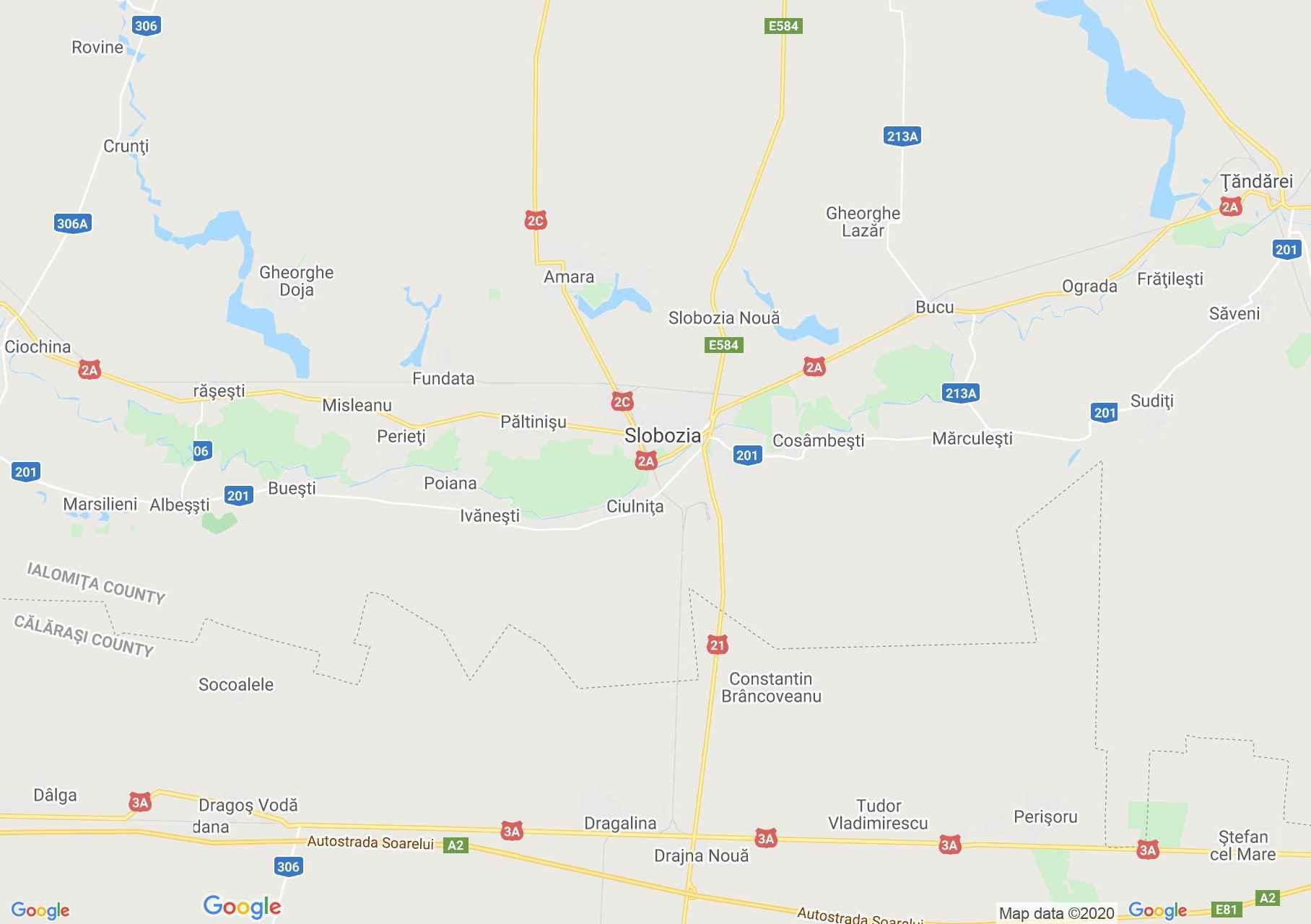 Zona Slobozia, Harta turistică interactivă