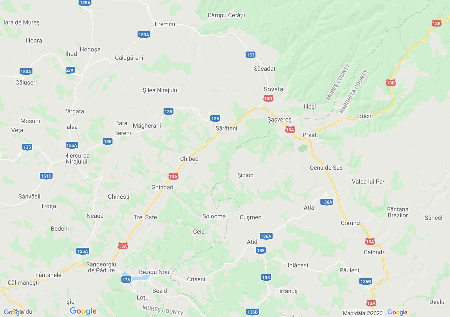 Szováta-Parajd-Korond interaktív turista térképe.