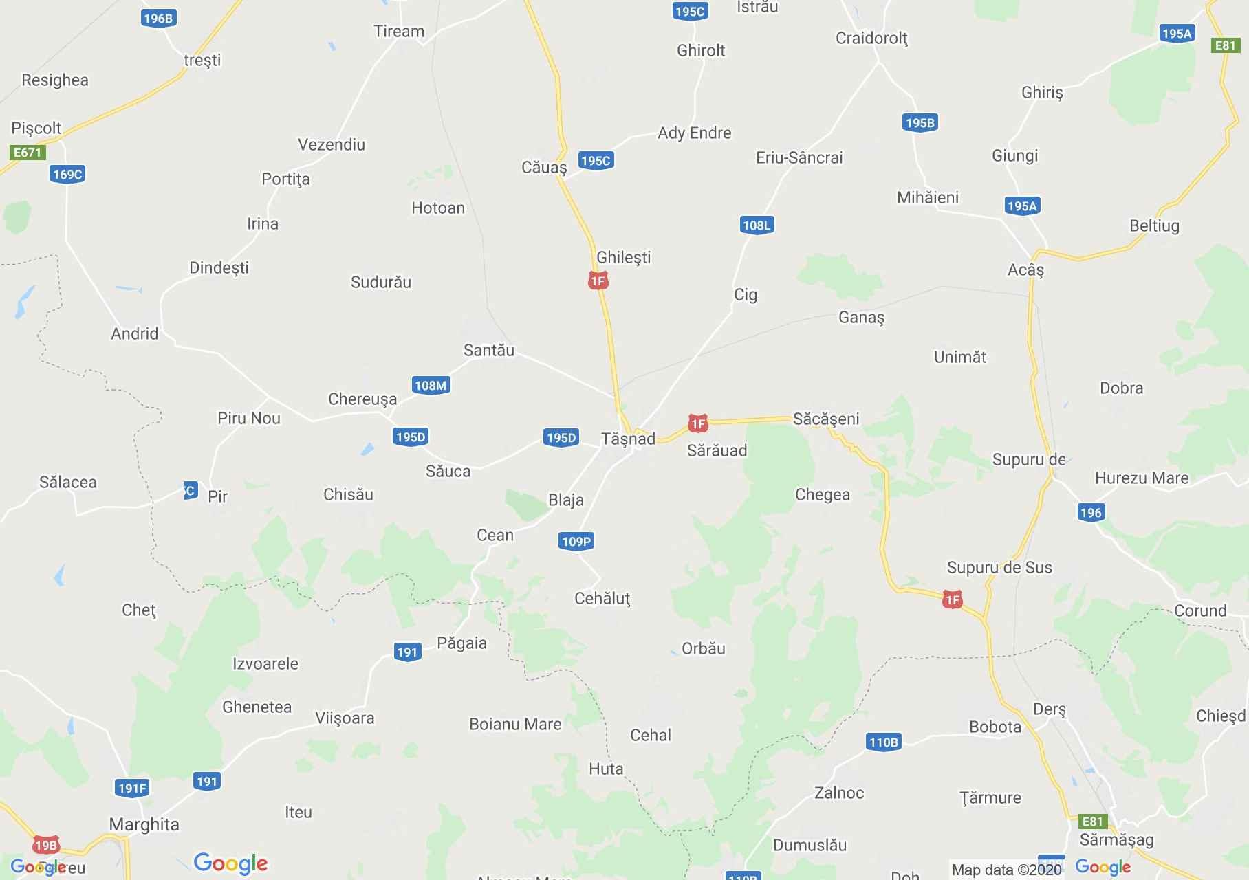 Tăşnad area, Interactive tourist map
