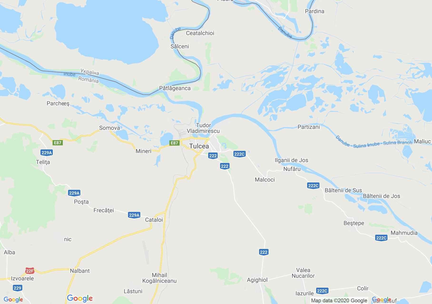 Tulcea area, Interactive tourist map