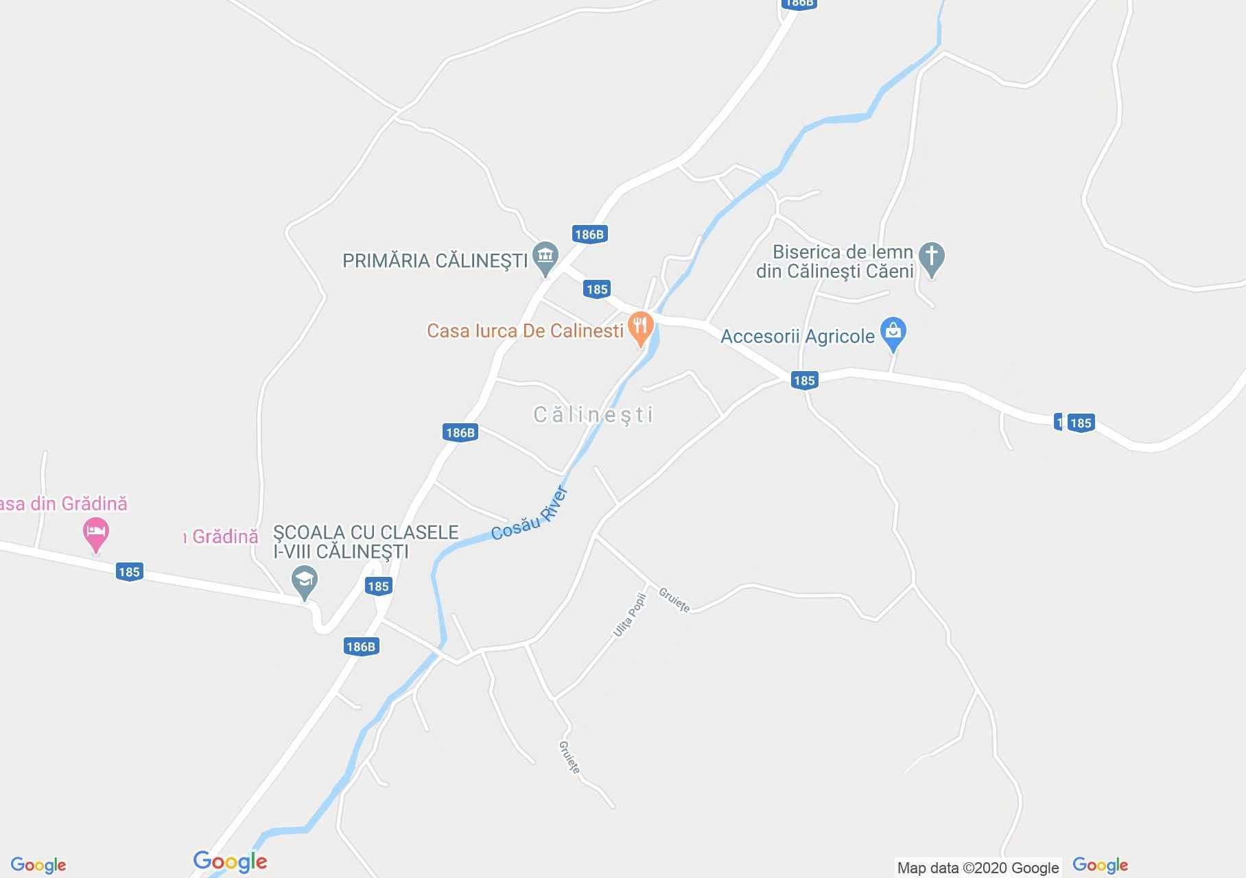Călineşti, Interactive tourist map