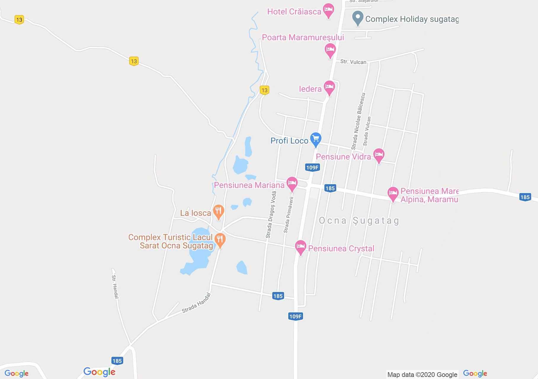 Ocna Şugatag, Interactive tourist map